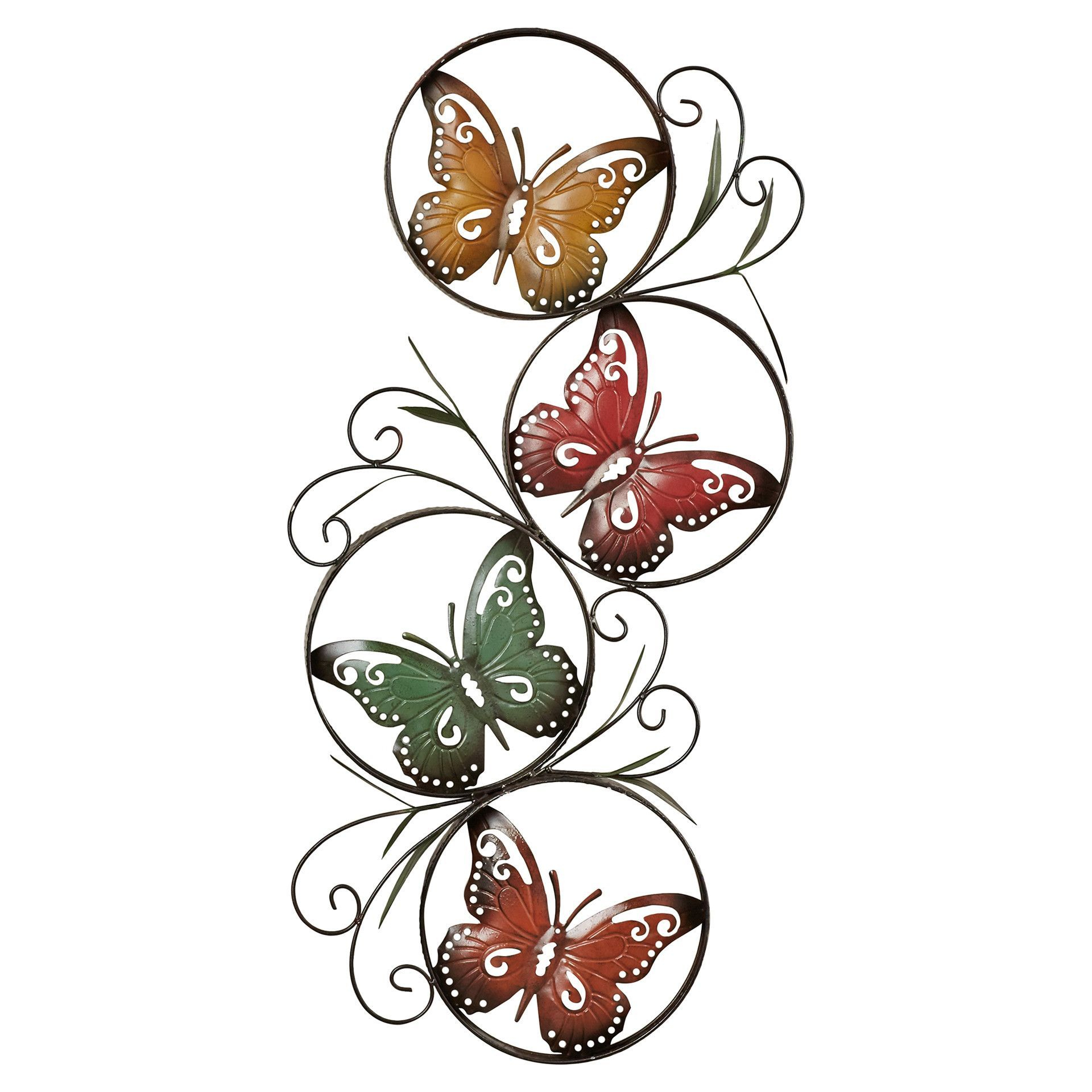 Butterfly Wall Decor, Metal (Gallery 2 of 20)