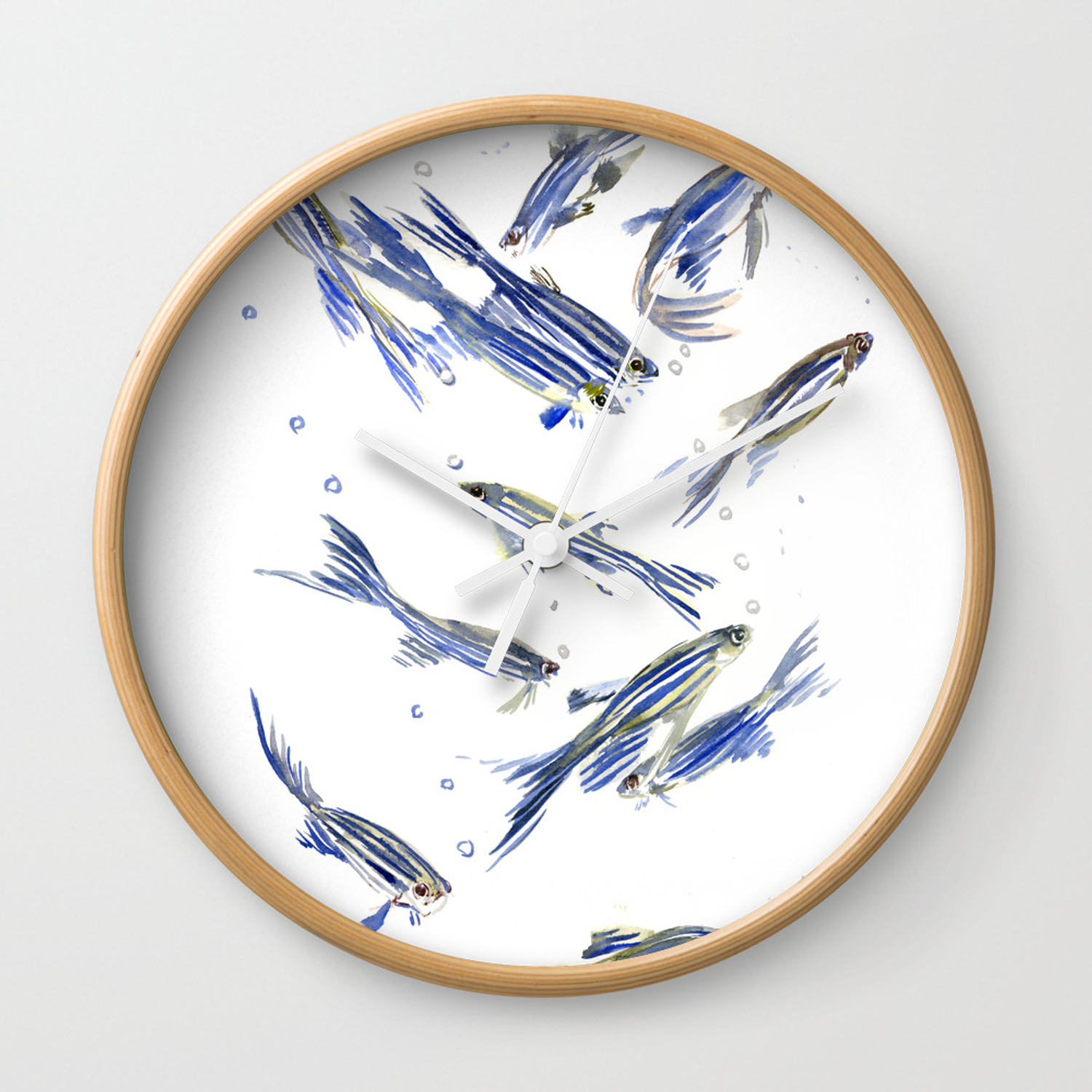 Ceramic Blue Fish Plate Wall Decor With Regard To Recent Fish Art Danio Zebra Fish, Gray Blue Aquatic Beach Home Decor Wall (Gallery 16 of 20)