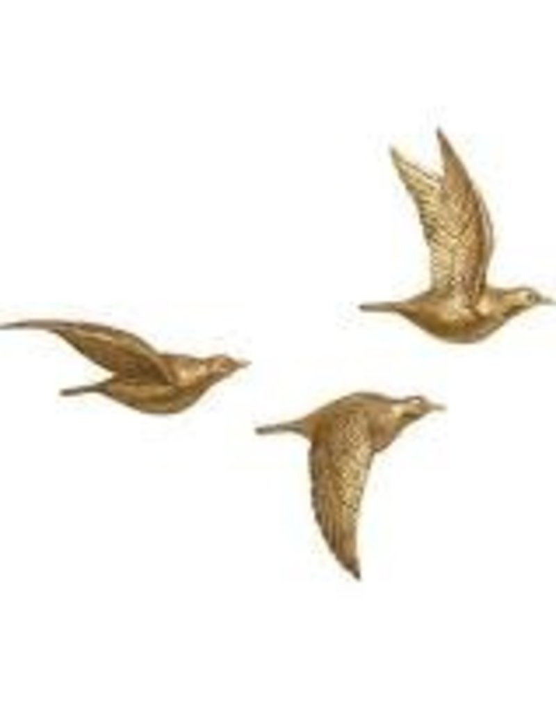 Charlton Home 3 Piece Polystone Bird Wall Decor Set – Heirloom Home Regarding Most Up To Date Metal Wall Decor By Charlton Home (View 3 of 20)