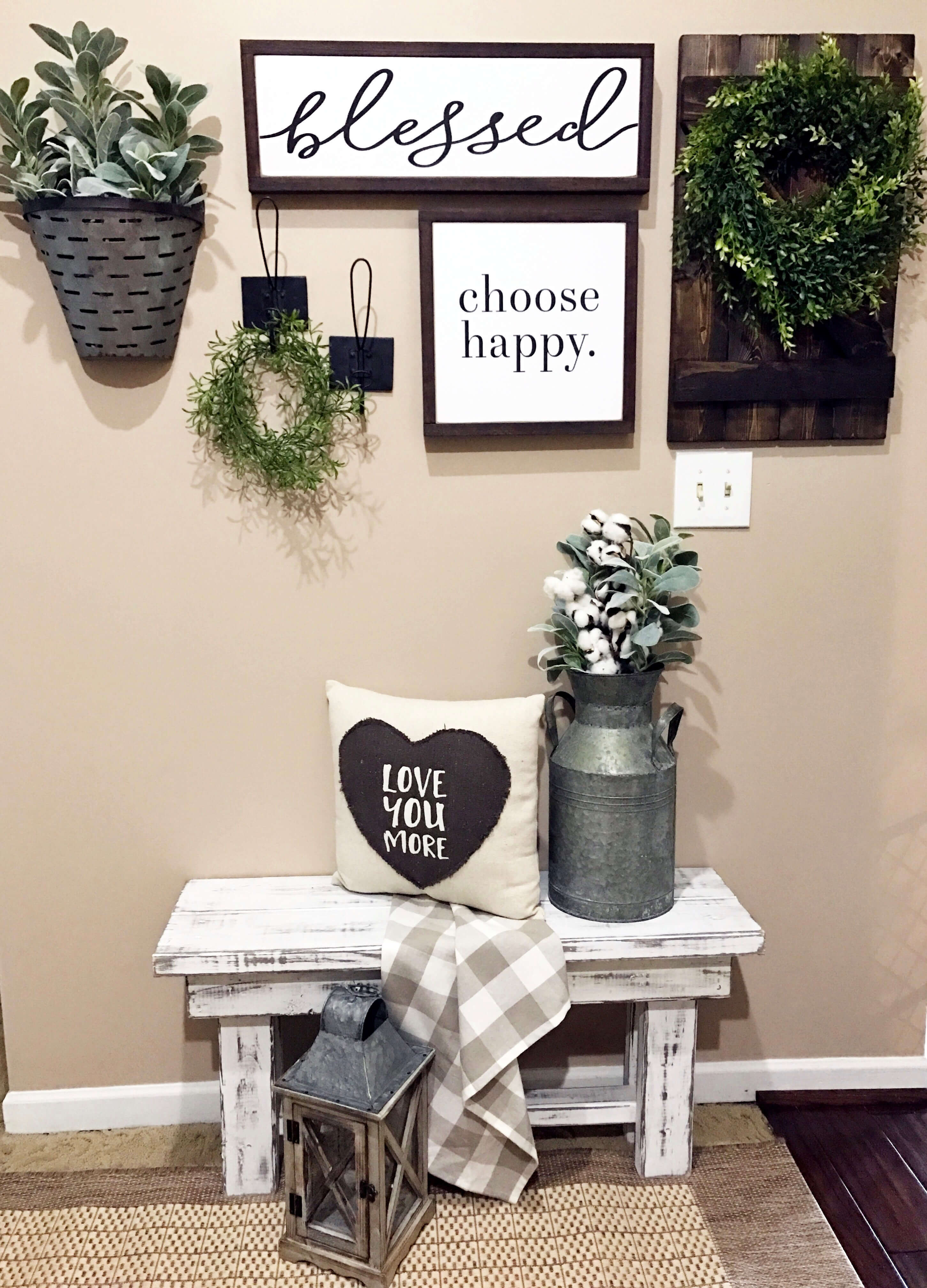 Choose Happy Wood Wall Decor Inside Most Recently Released 45+ Best Farmhouse Wall Decor Ideas And Designs For 2019 (Gallery 18 of 20)