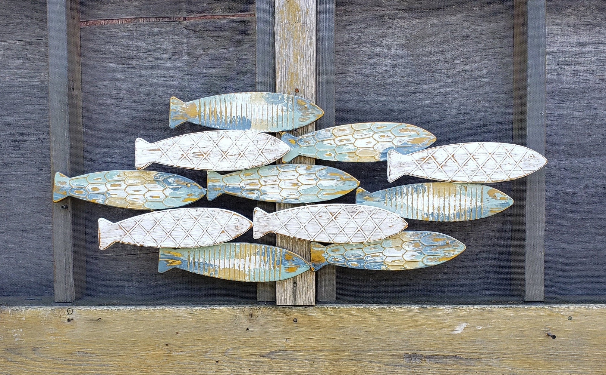 Coastal Metal Fish Wall Decor With Regard To Trendy Fish Wall Decor/ Coastal Decor/ Metal Fish Decor/ Beach (Gallery 9 of 20)