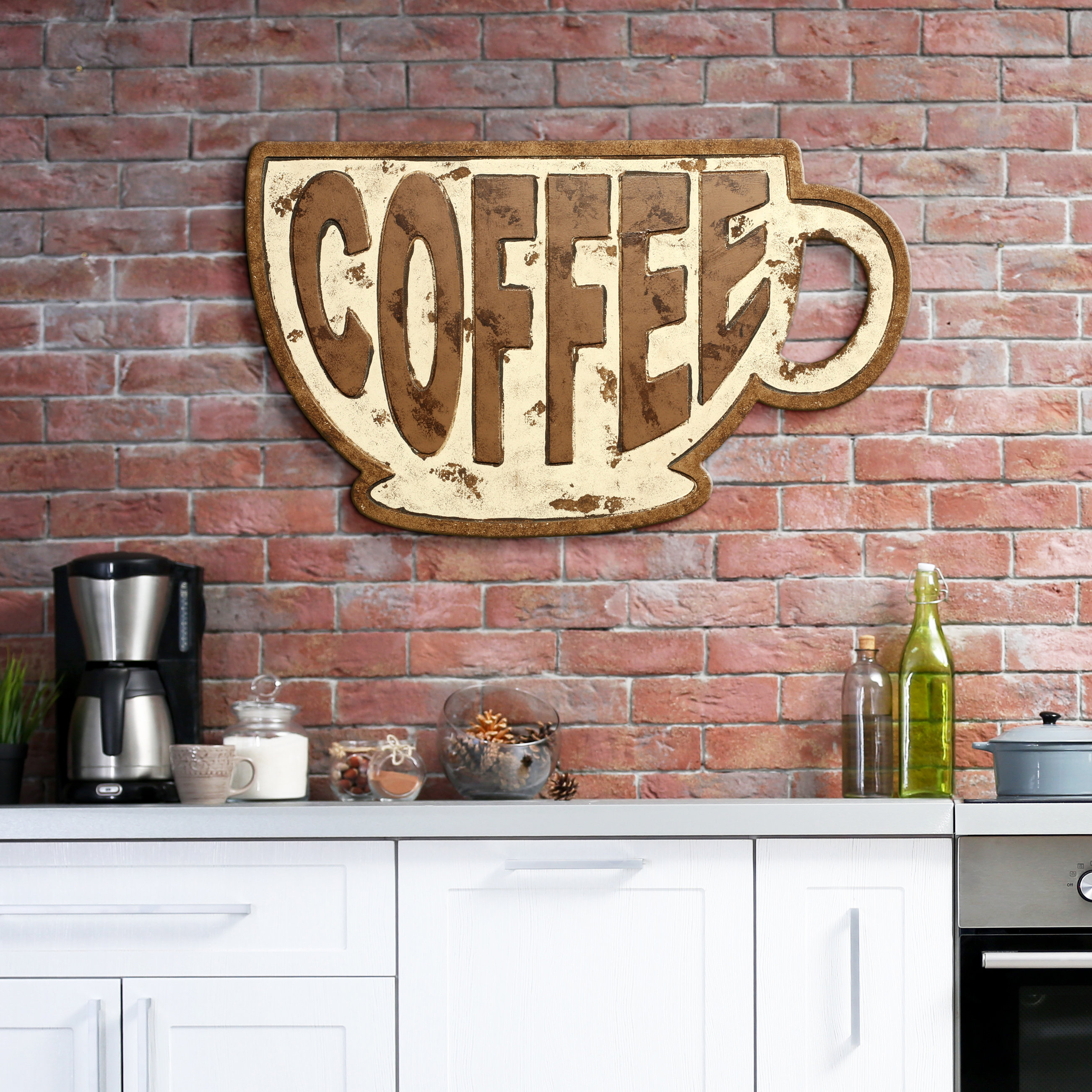 Coffee Sign With Rebar Wall Decor For Newest Winston Porter Coffee Mug Sign Wall Décor (Gallery 5 of 20)