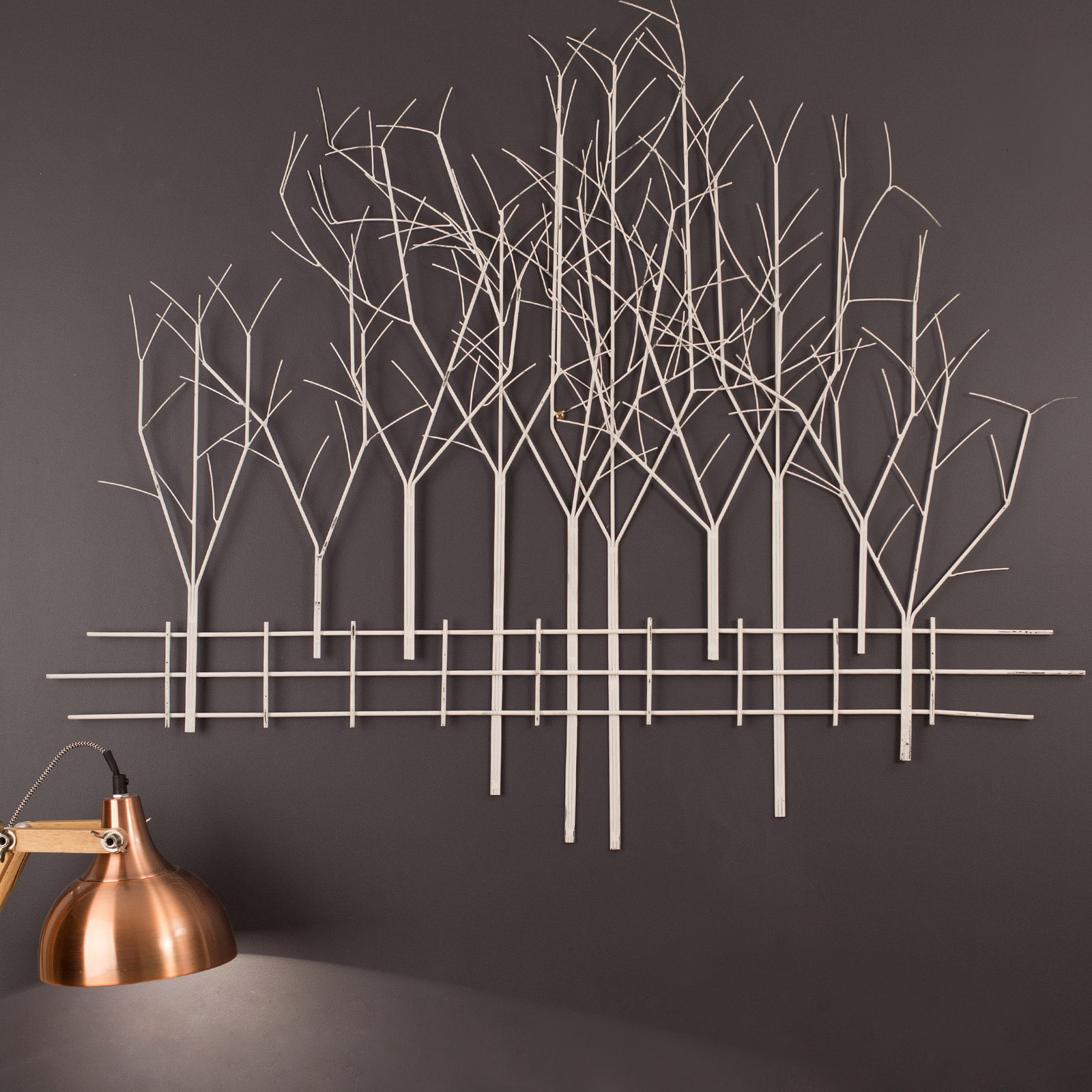 Contemporary Forest Metal Wall Decor Inside Preferred Winter Woodland Metal Wall Art (Gallery 16 of 20)