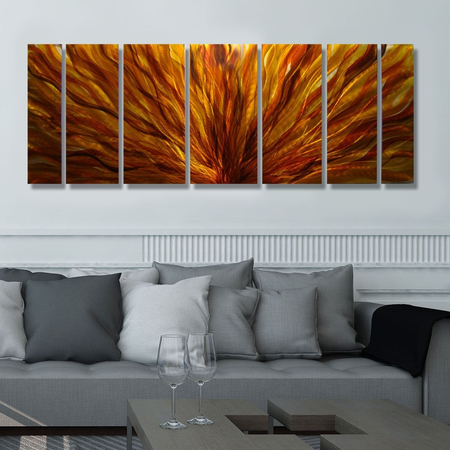 Contemporary Forest Metal Wall Decor Throughout Most Up To Date Orange Metal Art (Gallery 14 of 20)