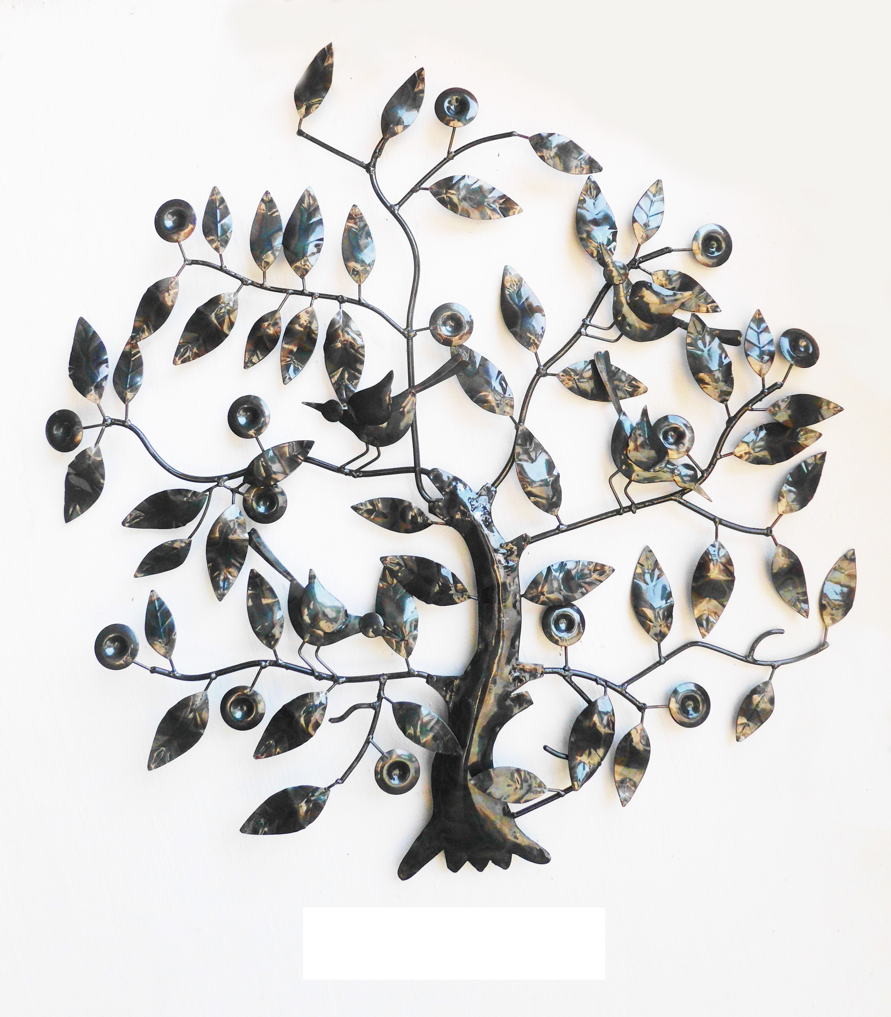Contemporary Iron Leaves Wall Decor By Winston Porter Intended For Latest Winston Porter Iron Wall Décor & Reviews (View 7 of 20)