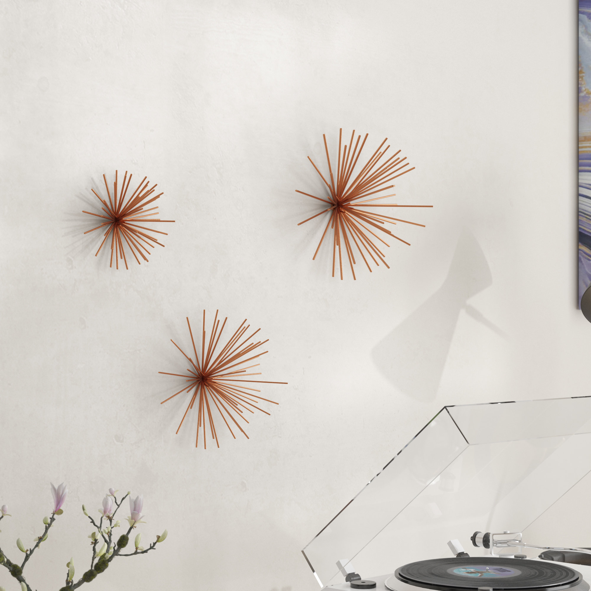 Current 3 Piece Decorative Metal Star Wall Decor Set (View 20 of 20)