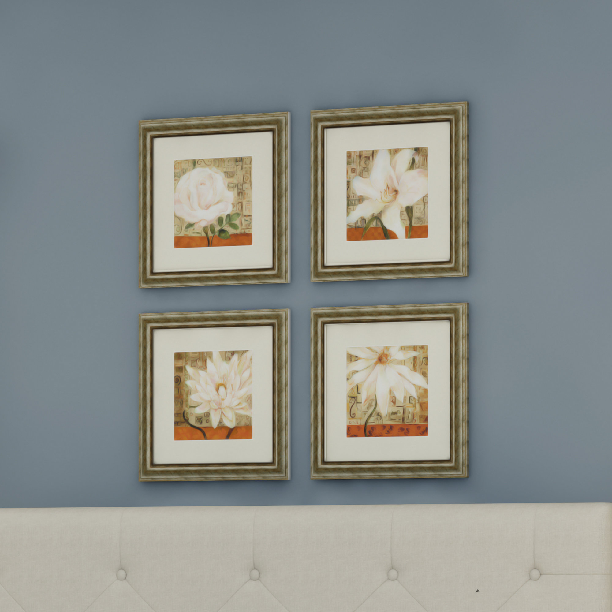 Current 4 Piece Wall Decor Sets By Charlton Home Inside Alcott Hill 'opulence' 4 Piece Framed Graphic Art Set & Reviews (View 7 of 20)