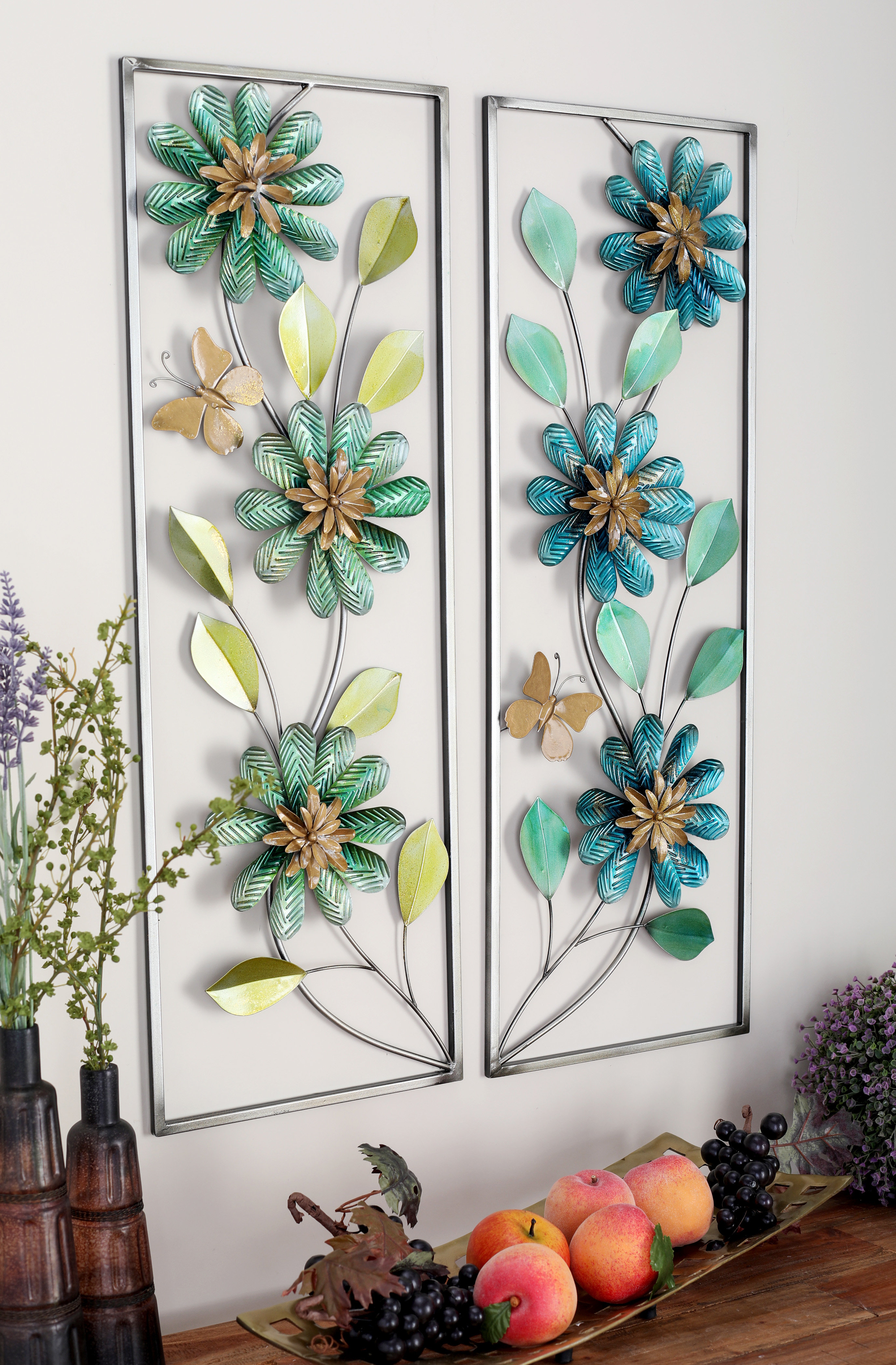 Current Cole & Grey 2 Piece Metal Wall Décor Set & Reviews (Gallery 6 of 20)