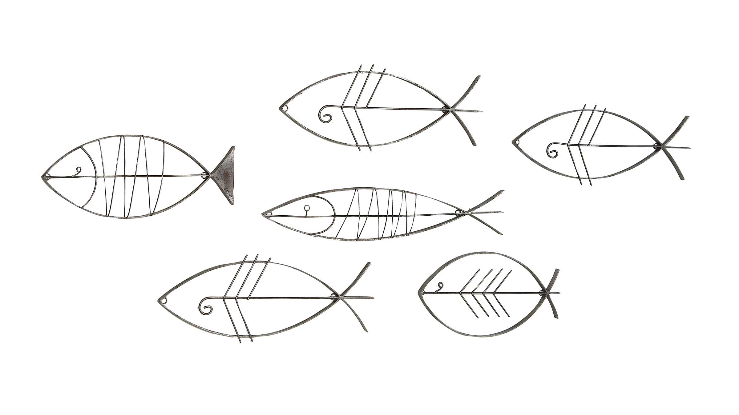 Current Decmode Coastal Black Metal Fish Wall Decor – Set Of 6 – Walmart Intended For Coastal Metal Fish Wall Decor (View 16 of 20)
