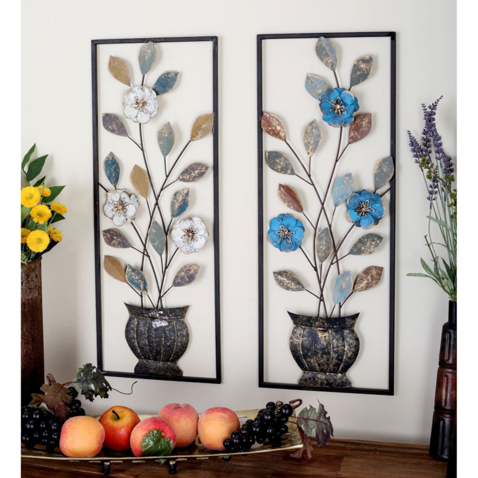 Current Leaves Metal Sculpture Wall Decor By Winston Porter Inside Decmode Metal Leaves Wall Sculpture – Set Of 2 (Gallery 5 of 20)