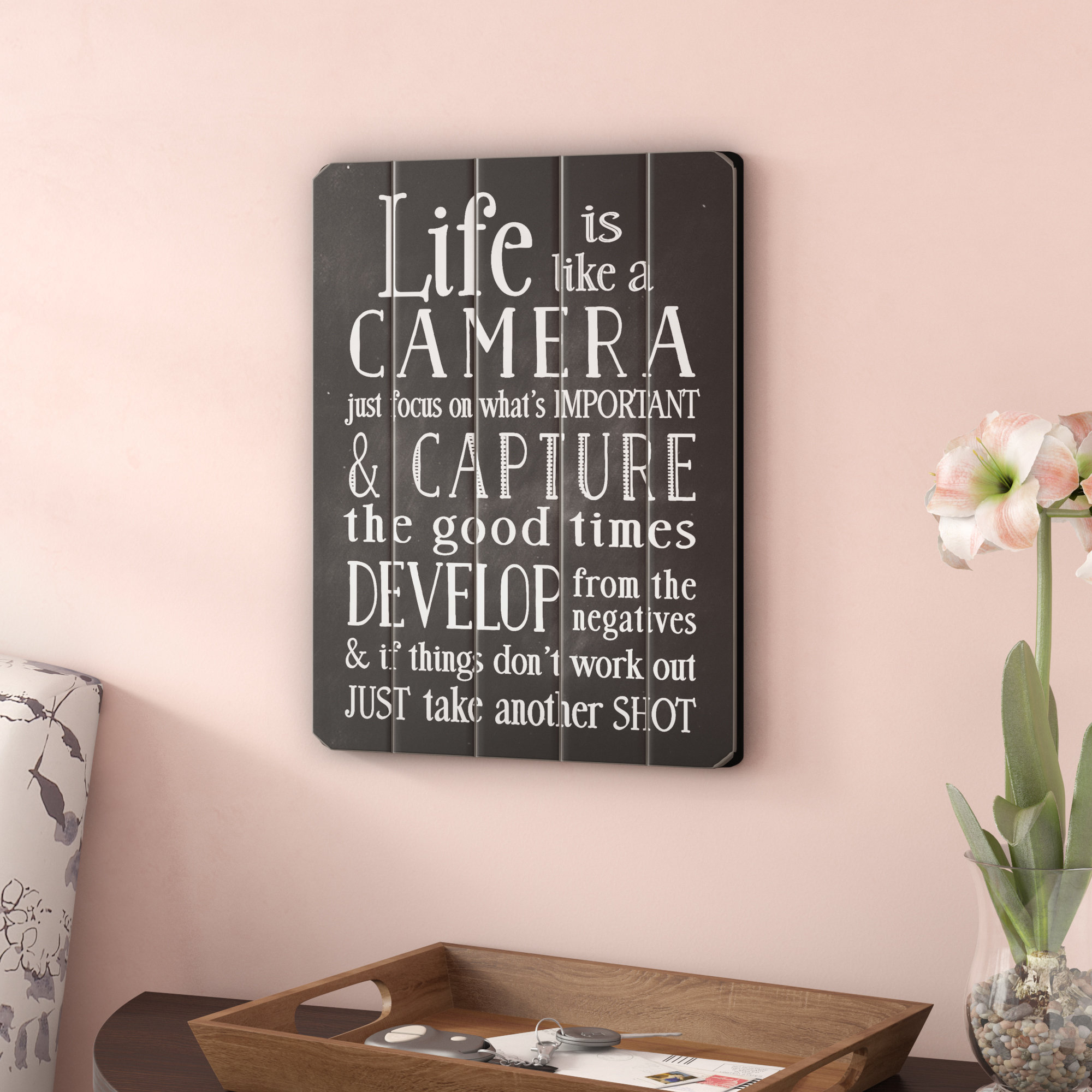 Featured Photo of Life Is Like a Camera Textual Art