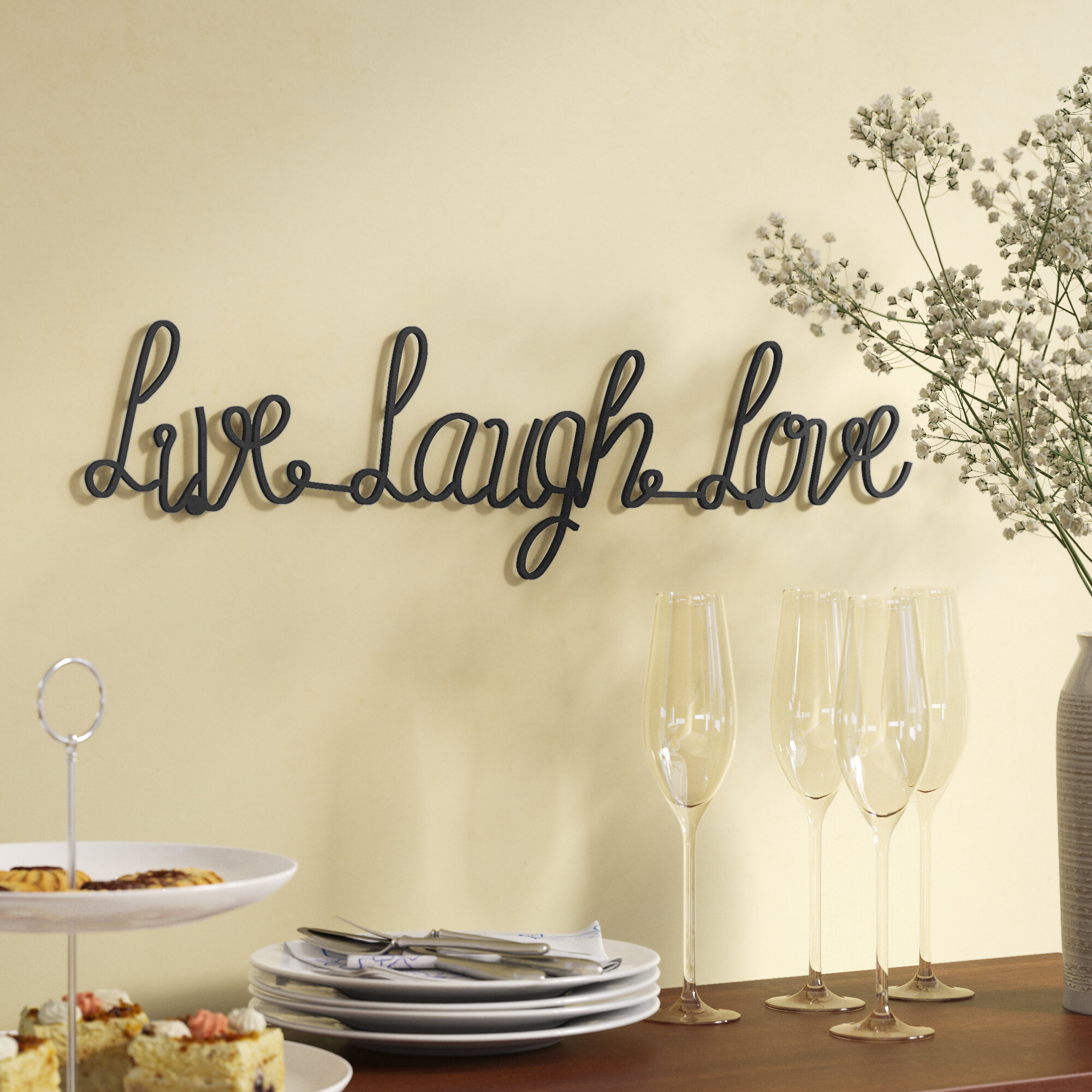 Current Metal Laundry Room Wall Decor By Winston Porter With Live Laugh Love Metal Wall Décor (View 20 of 20)