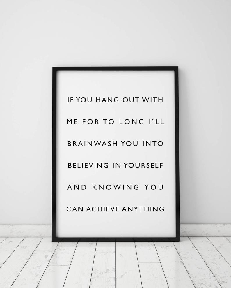 Current Self Confidence Poster Believe In Yourself Confidence Wall Art (View 4 of 20)