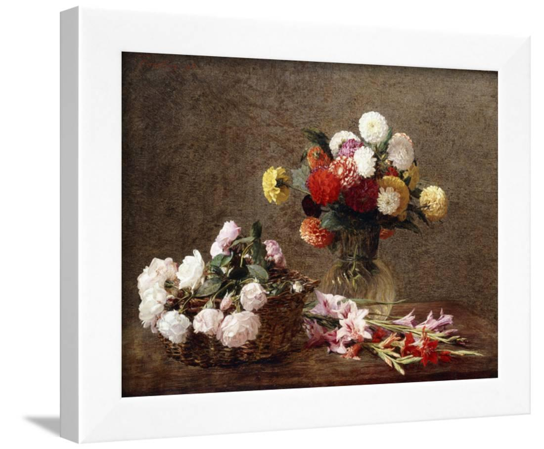 Dahlias, 1896 Framed Print Wall Arthenri Fantin Latour – Walmart In Popular Latour Wall Decor (View 9 of 20)