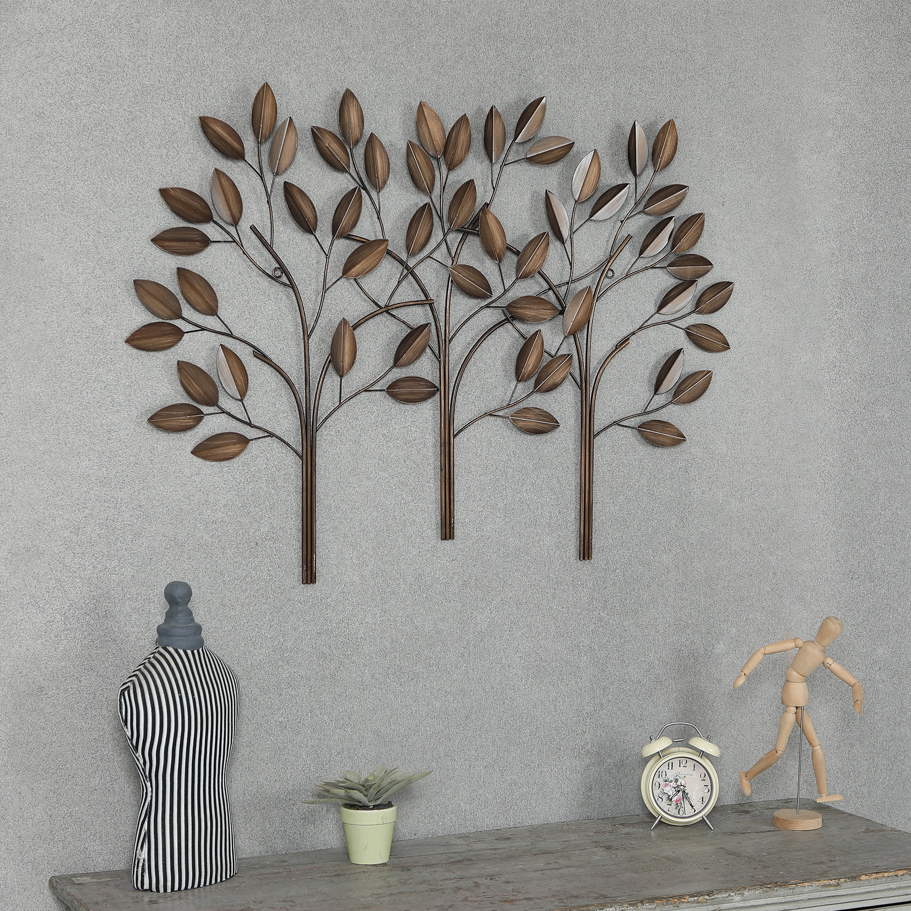 Desford Leaf Wall Decor By Charlton Home Within Famous Metal Trees Wall Décor (Gallery 6 of 20)