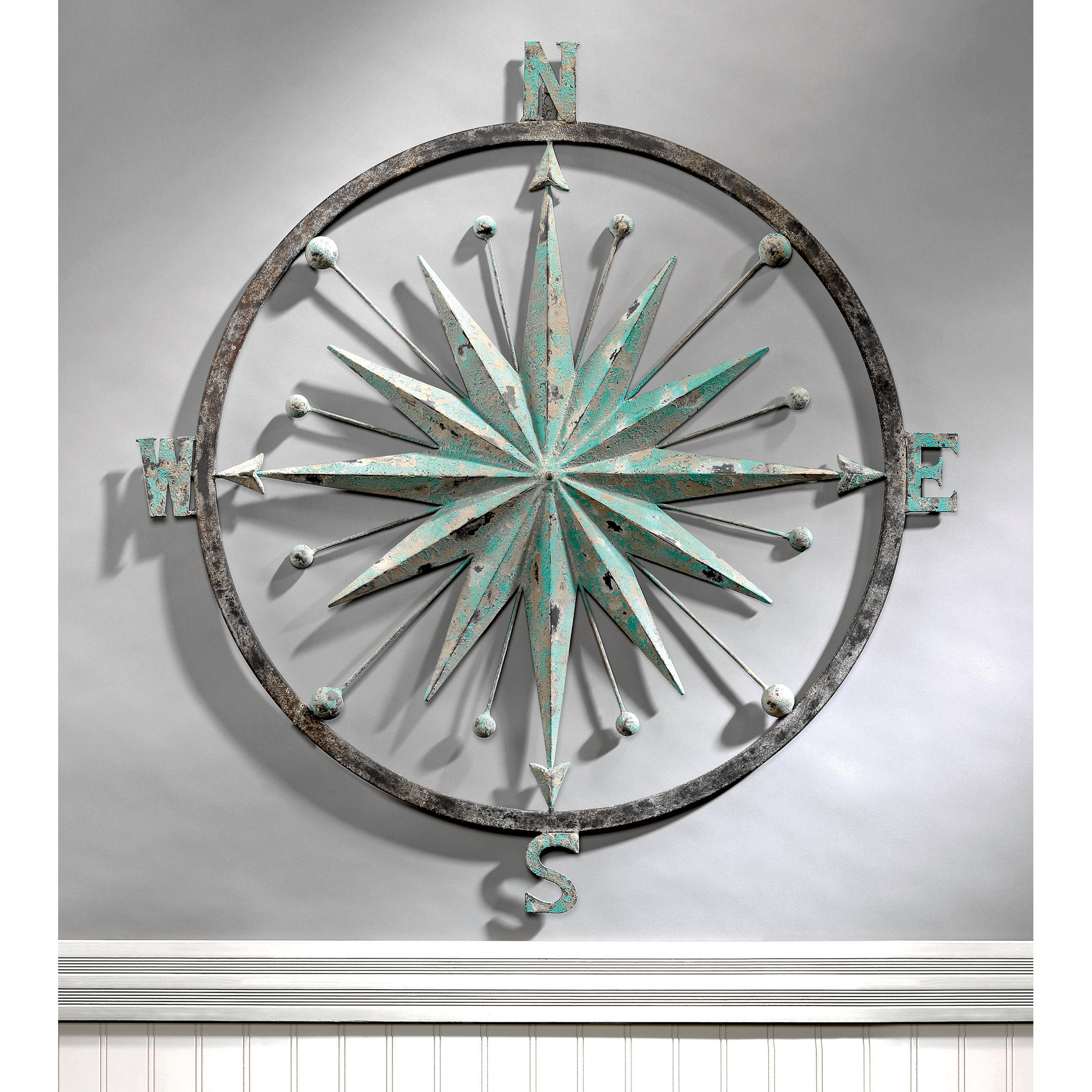 Design Toscano Rose Of The Winds Compass Rose Wall Décor & Reviews In Well Known Raised Star Wall Decor (View 2 of 20)