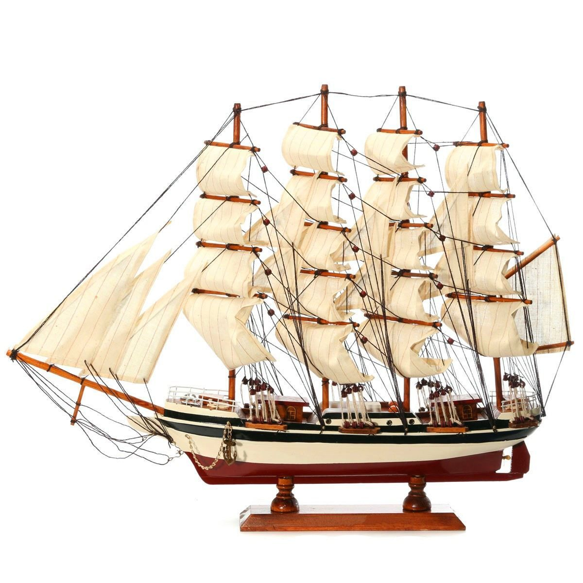 Diy Handmade Assembly Ship Craft Wooden Sailing Boat Wood Sailboat Intended For Best And Newest Metal Alloy Boat Wall Decor (View 8 of 20)