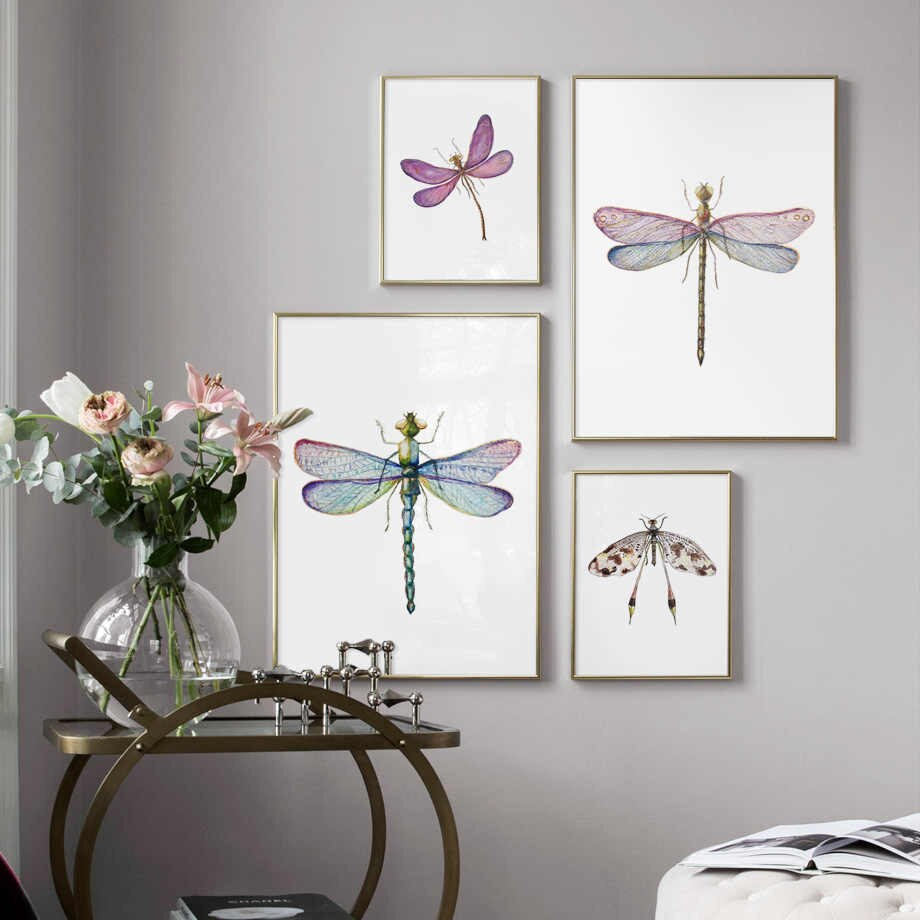 Dragonfly Wall Decor Pertaining To Well Known Detail Feedback Questions About Colorful Dragonfly Wall Art Canvas (View 10 of 20)