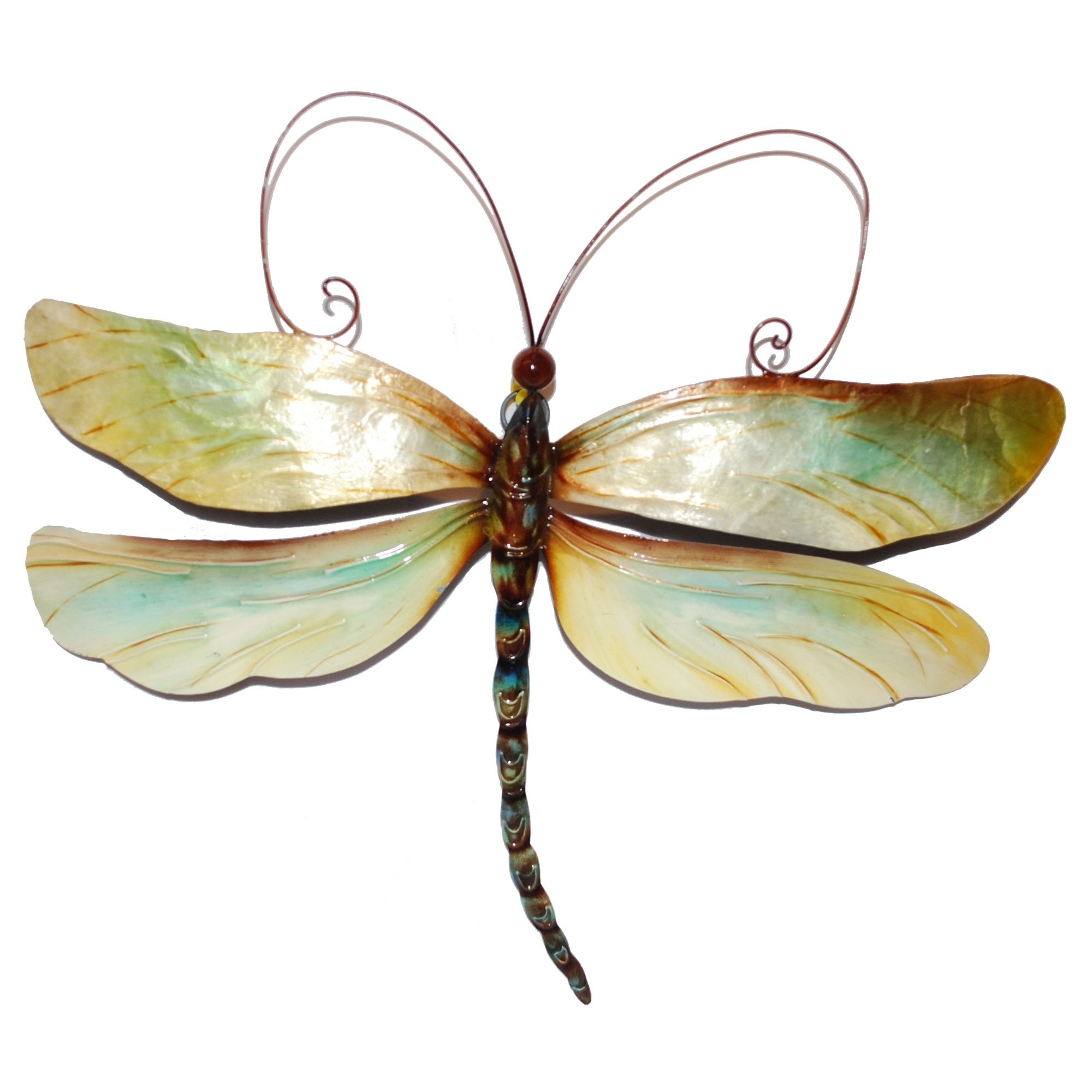 Dragonfly Wall Decor Within Widely Used Shop Handmade Metal And Capiz Dragonfly Wall Decor – On Sale – Free (View 12 of 20)