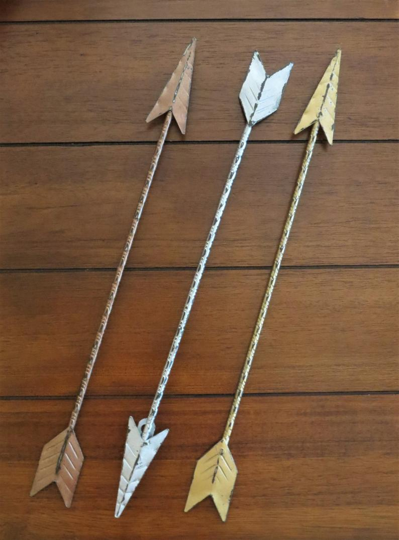 Etsy Intended For Brown Metal Tribal Arrow Wall Decor (View 5 of 20)
