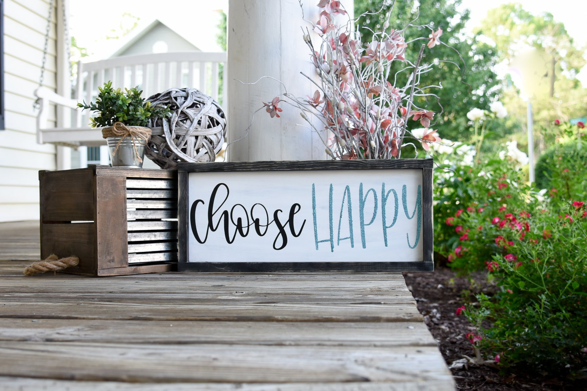 Etsy Pertaining To Choose Happy Wood Wall Decor (View 19 of 20)