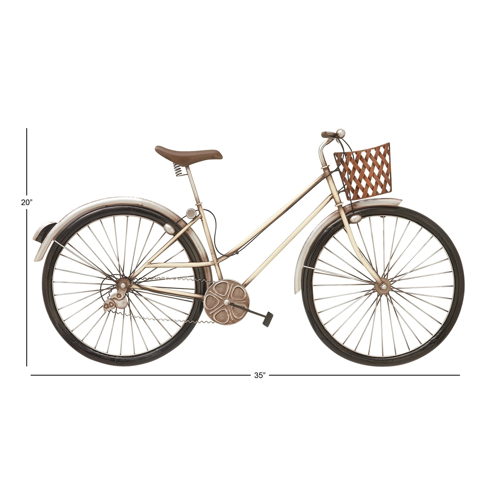 Exclusive Metal Bike Wall Decor – Walmart In Famous Metal Bicycle Wall Decor (View 6 of 20)