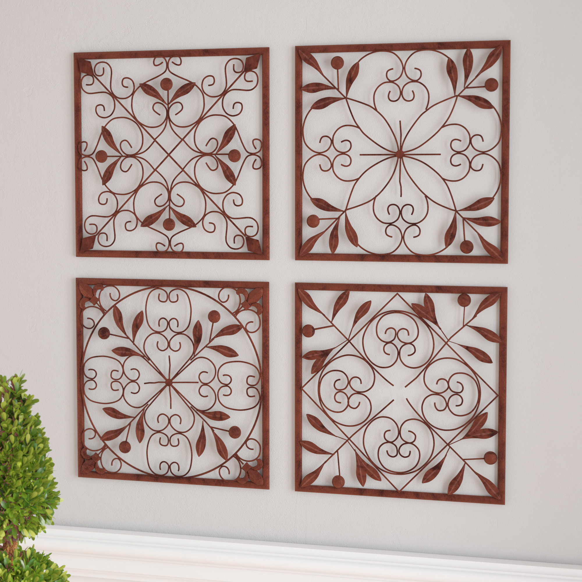 Famous Charlton Home 4 Piece Wall Décor Set & Reviews (View 2 of 20)