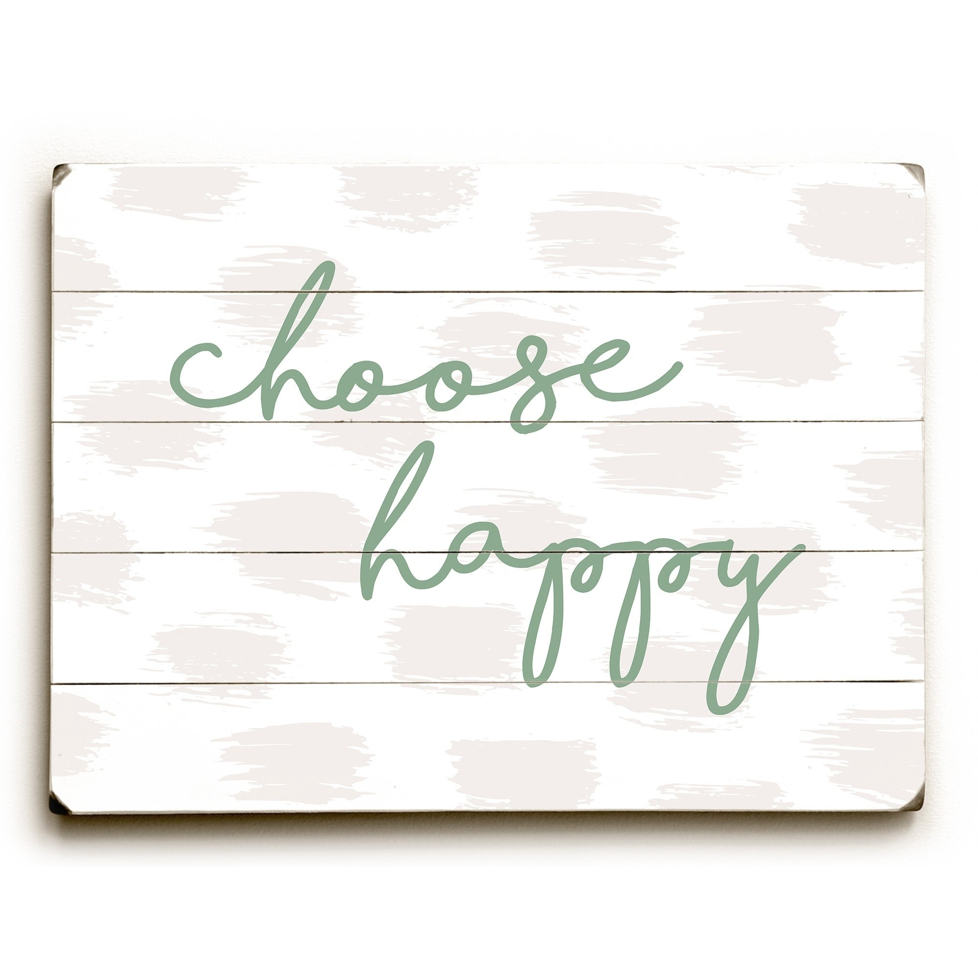 Famous Choose Happy Wood Wall Decor Regarding Shop Choose Happy Green – Green Planked Wood Wall Decorobc – On (View 9 of 20)