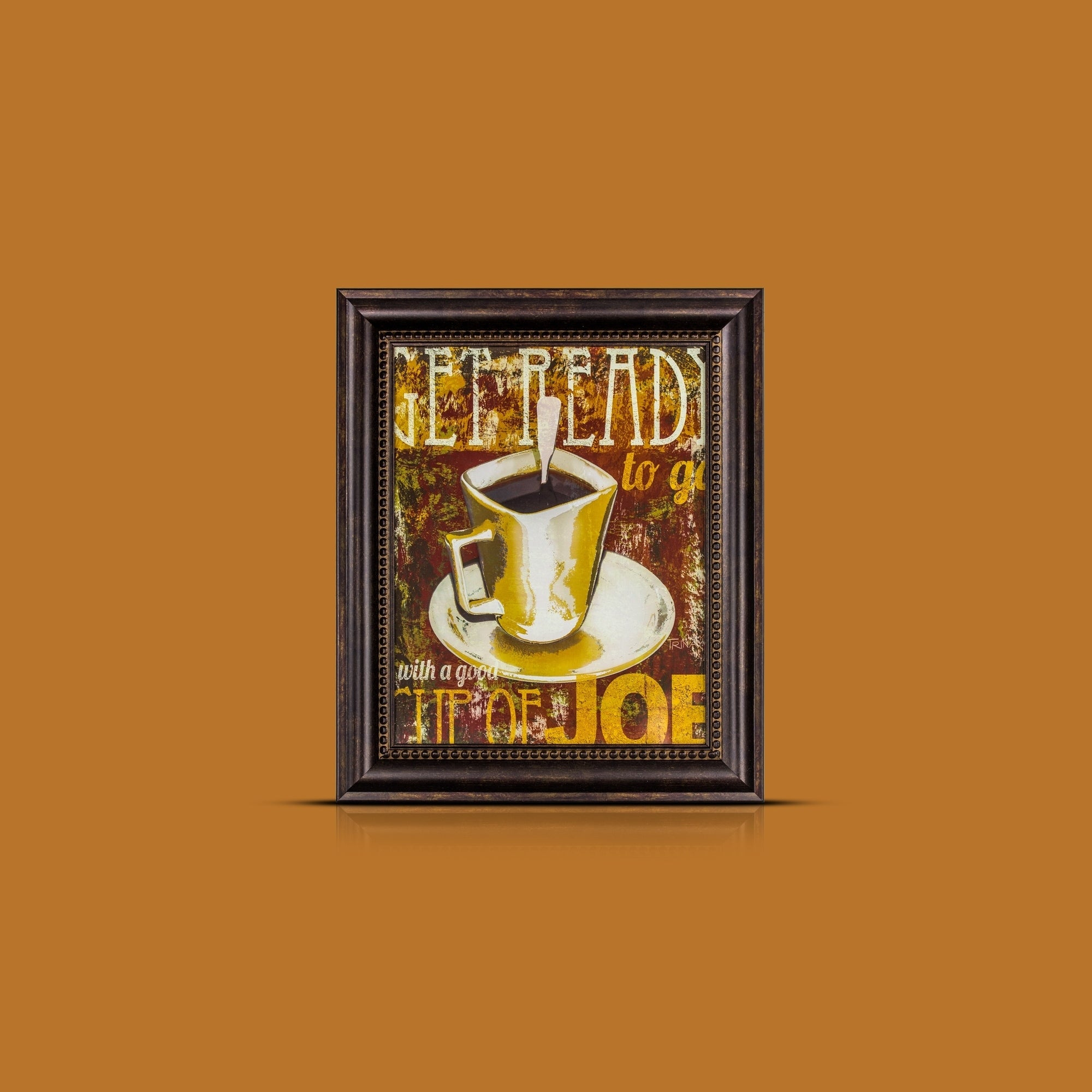 Famous Cup Of Joe Wall Decor intended for Shop American Art Decor Get Ready With A Good Cup Of Joe Framed