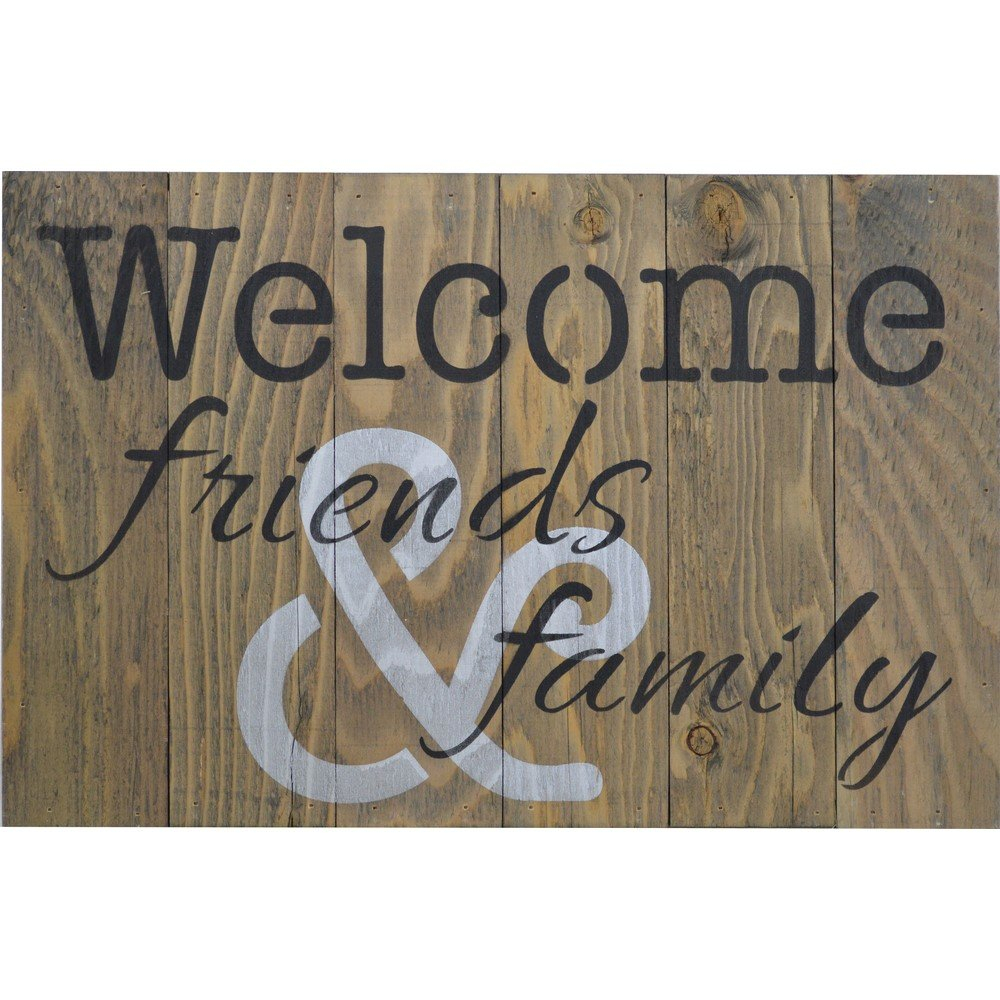"Famous In-A-Word ""welcome"" Wall Decor By Fireside Home throughout Firesidehome ""welcome Friends And Family"" Wooden Pallet Sign Wall"