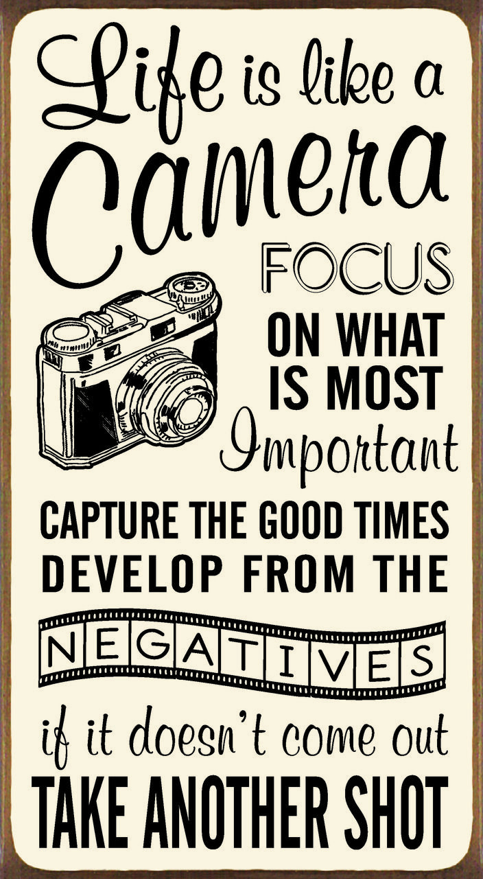 Famous Life Is Like A Camera Textual Art For Life Is Like A Camera Focus On What Is Most Importantwood Block (View 3 of 20)