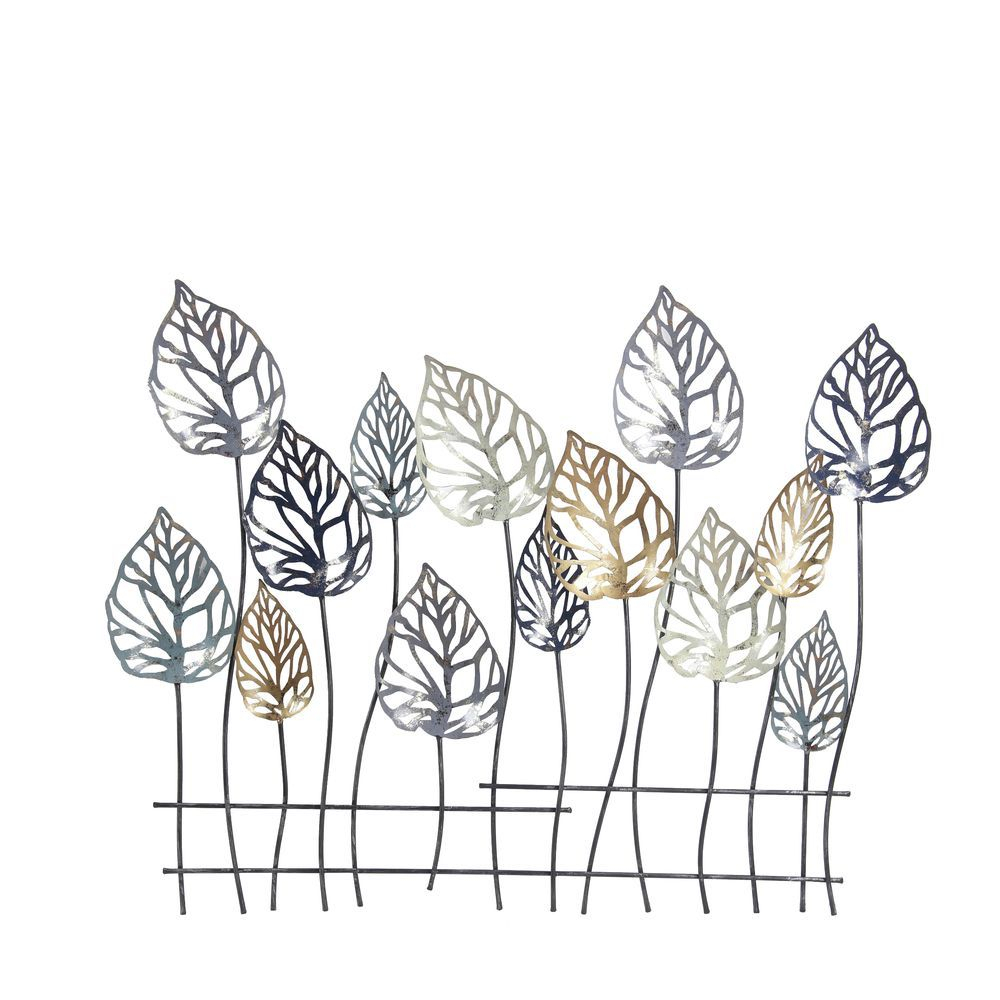 Famous Scroll Leaf Wall Decor Intended For Privilege Metal Leaf Wall Decor,32H X 2W X 38D (View 17 of 20)