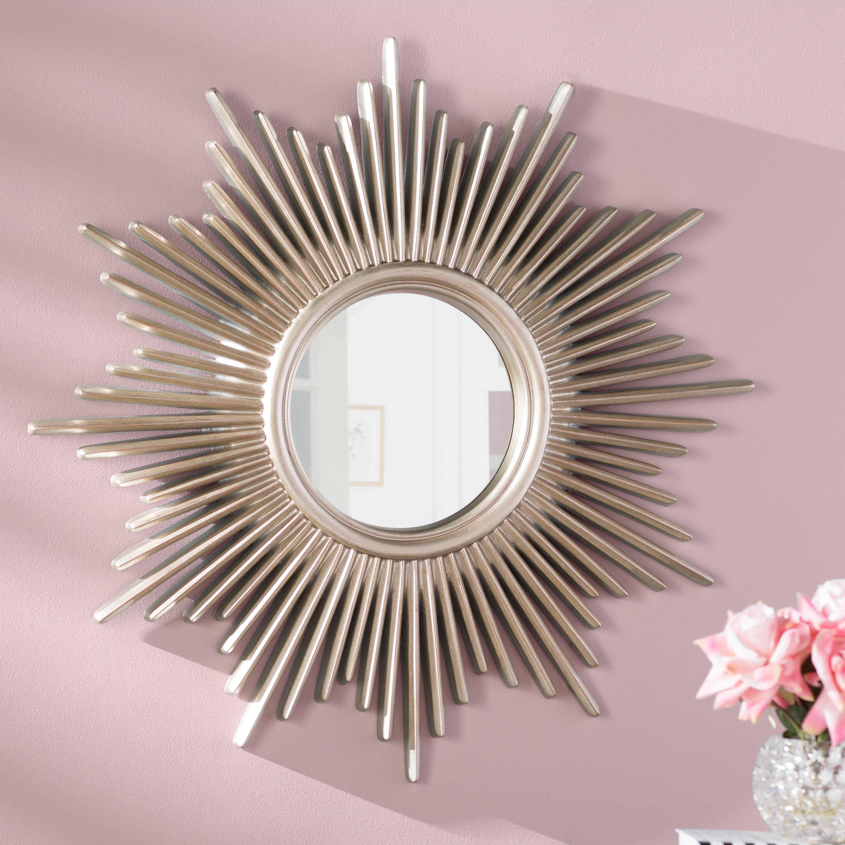Famous Starburst Wall Decor By Willa Arlo Interiors For Willa Arlo Interiors Josephson Starburst Glam Beveled Accent Wall (View 2 of 20)