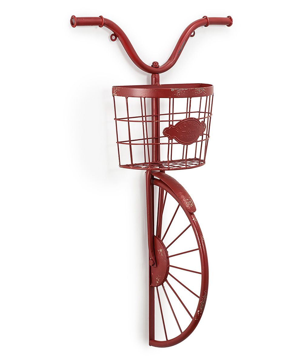 Fashionable Bike Wall Decor By August Grove within Display Your Favorite Plants In Style With This Unique Half-Bike