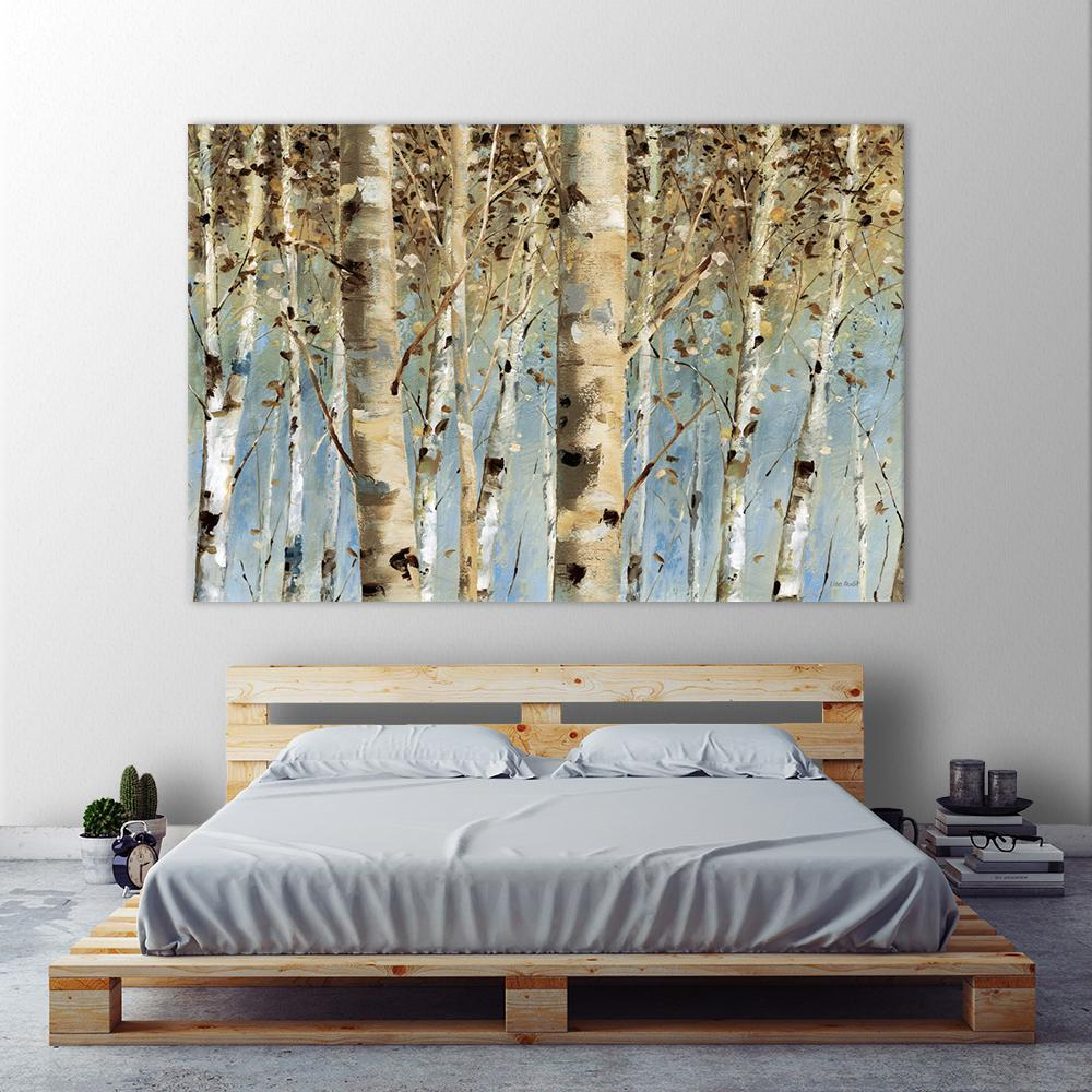 "Fashionable Contemporary Forest Metal Wall Decor for Clicart 48 In. X 72 In. ""white Forest""lisa Audit Printed Framed"