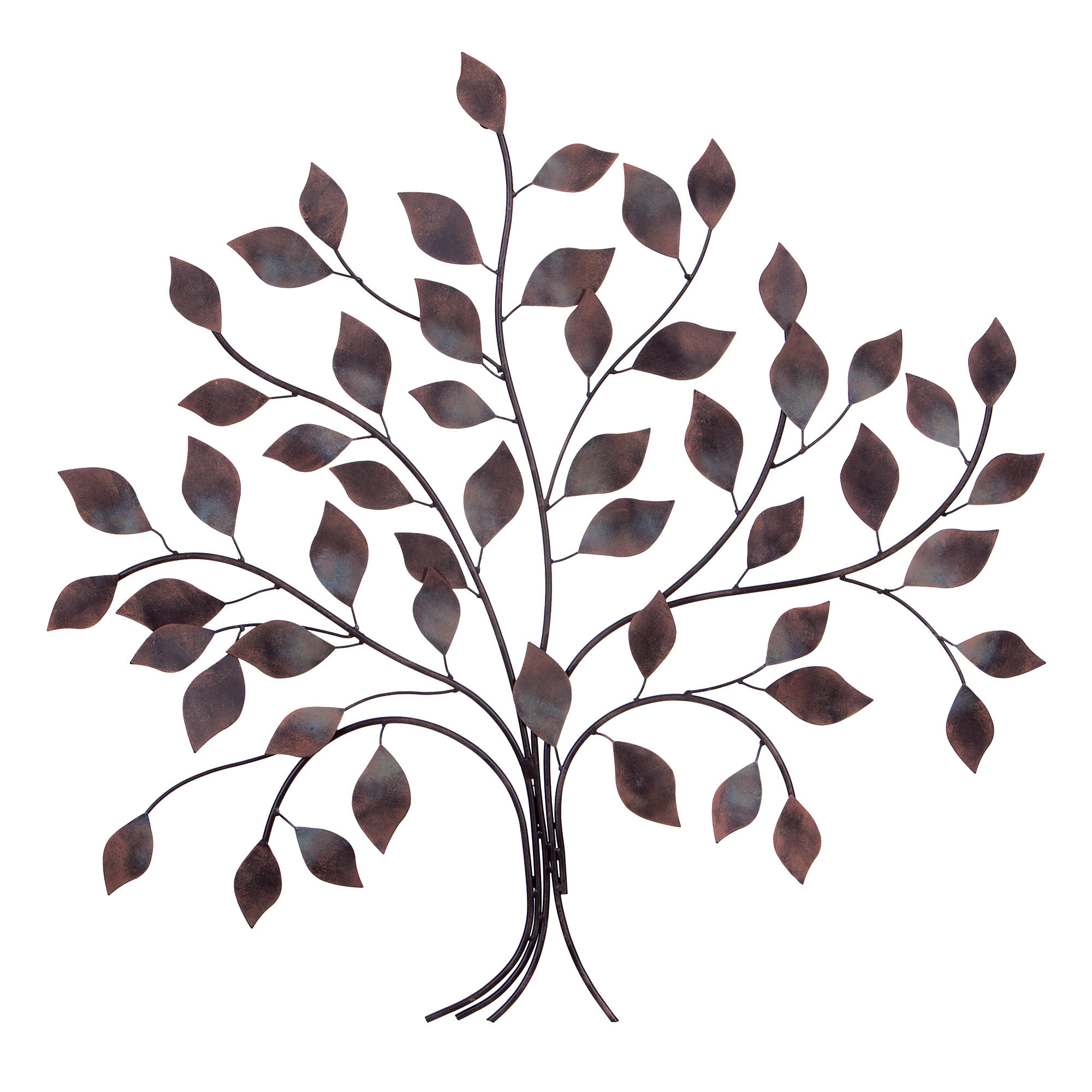 Fashionable Leaves Metal Sculpture Wall Decor By Winston Porter With Winston Porter Tree Branch Wall Décor (View 4 of 20)