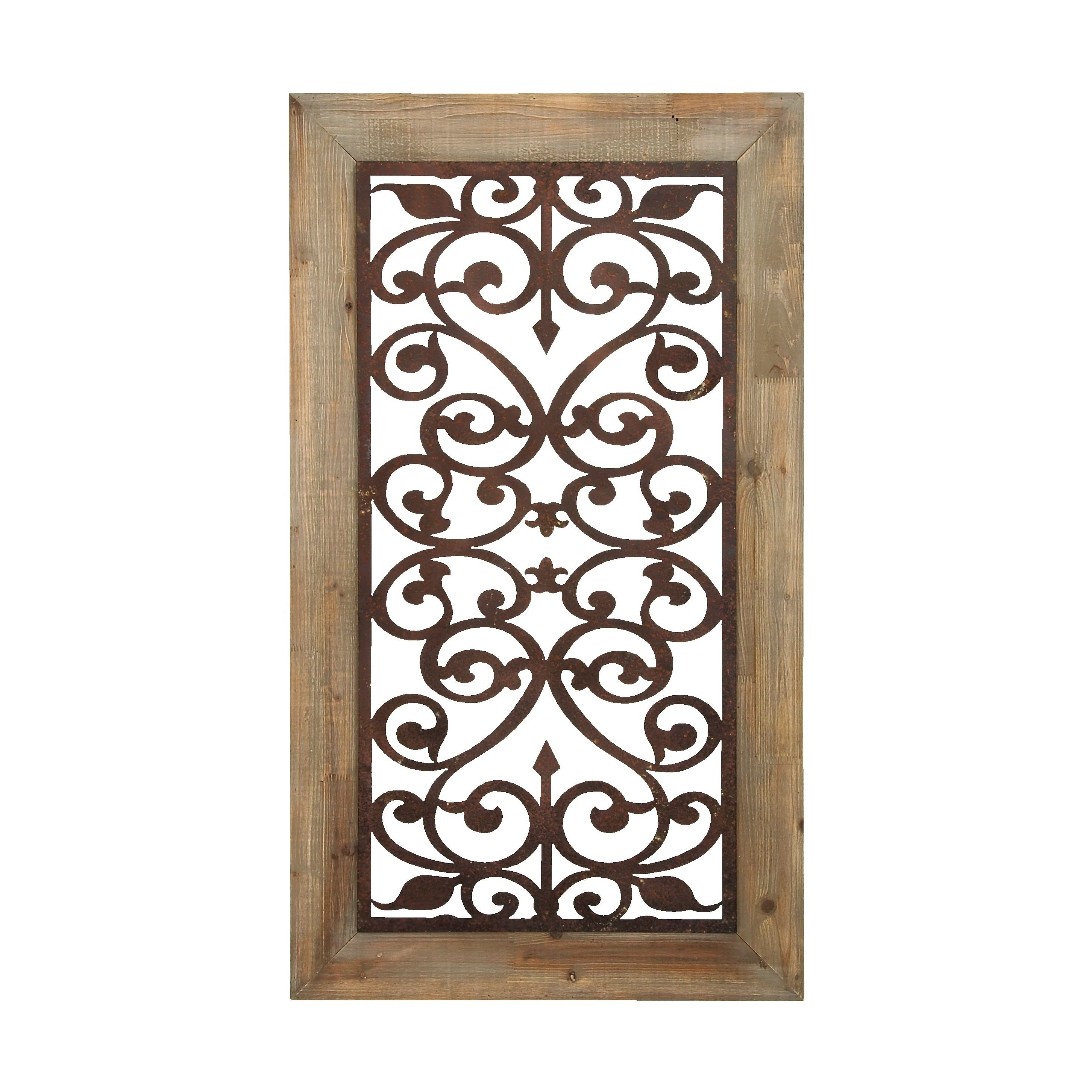 "Fashionable Rings Wall Decor By Wrought Studio Within Shop 26"" X 46"" Distressed Wood & Brown Metal Wall Art Panel W (View 4 of 20)"