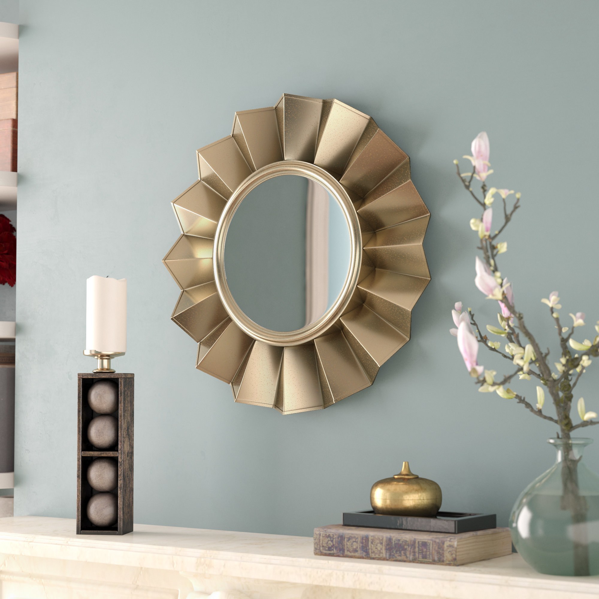 Fashionable Starburst Wall Decor By Willa Arlo Interiors Throughout Willa Arlo Interiors Vertical Round Wall Mirror & Reviews (View 3 of 20)