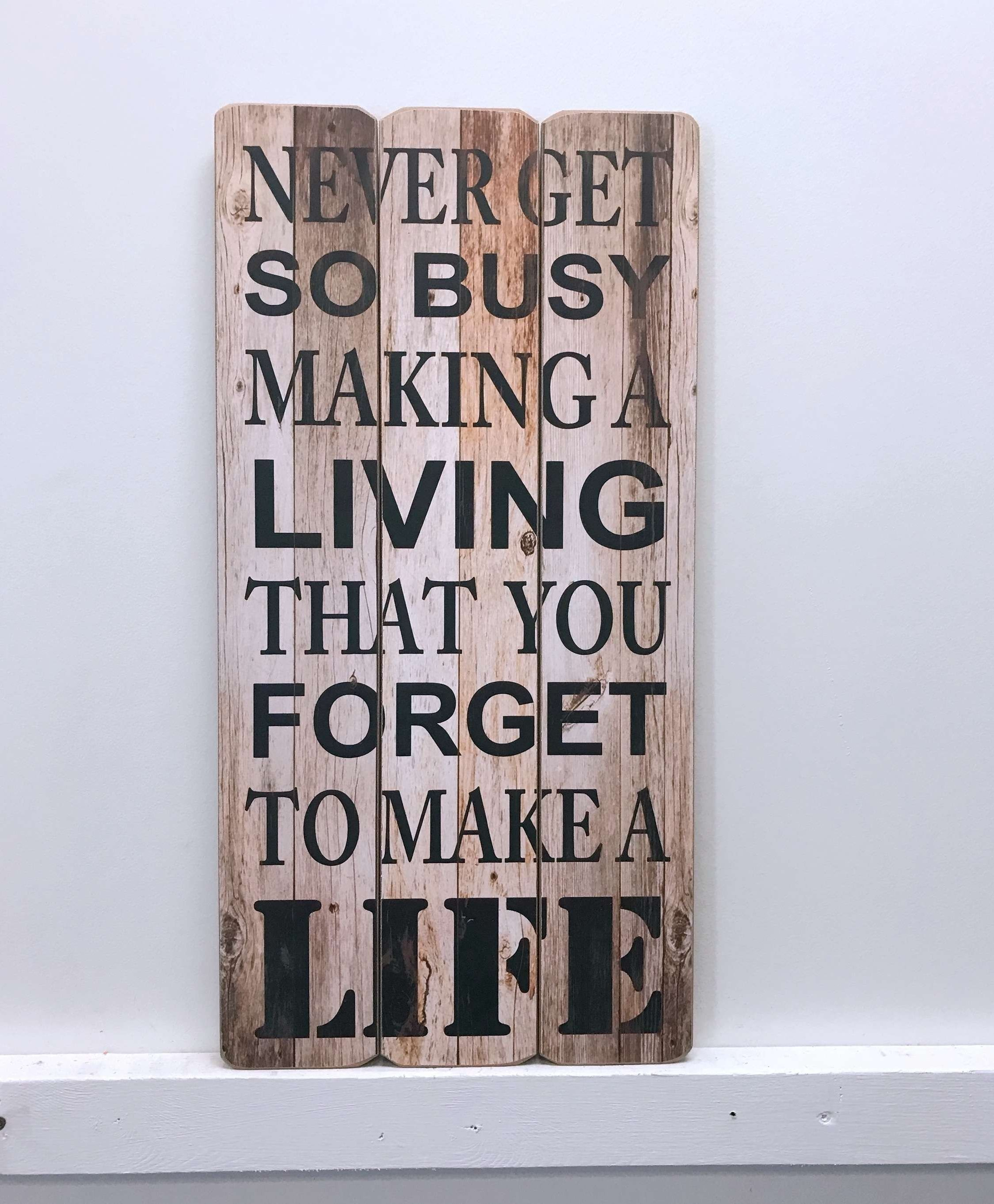 Fashionable Winston Porter Living And Life Wooden Sign Wall Décor (View 14 of 20)