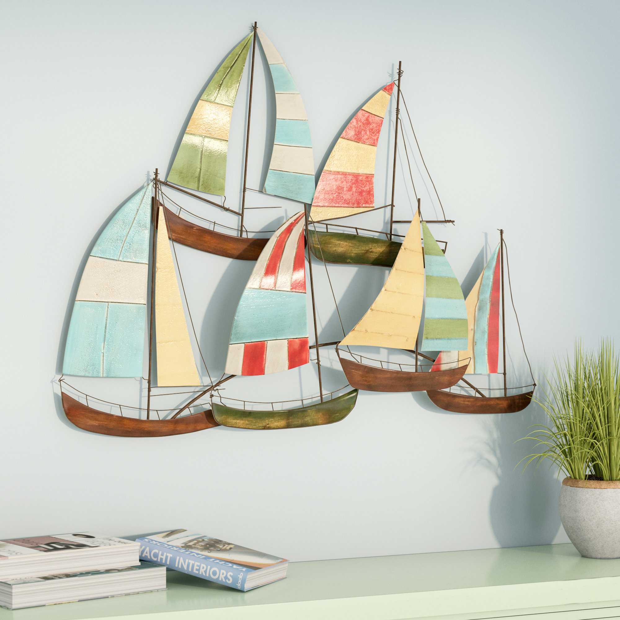 Featured Photo of Metal Alloy Boat Wall Decor