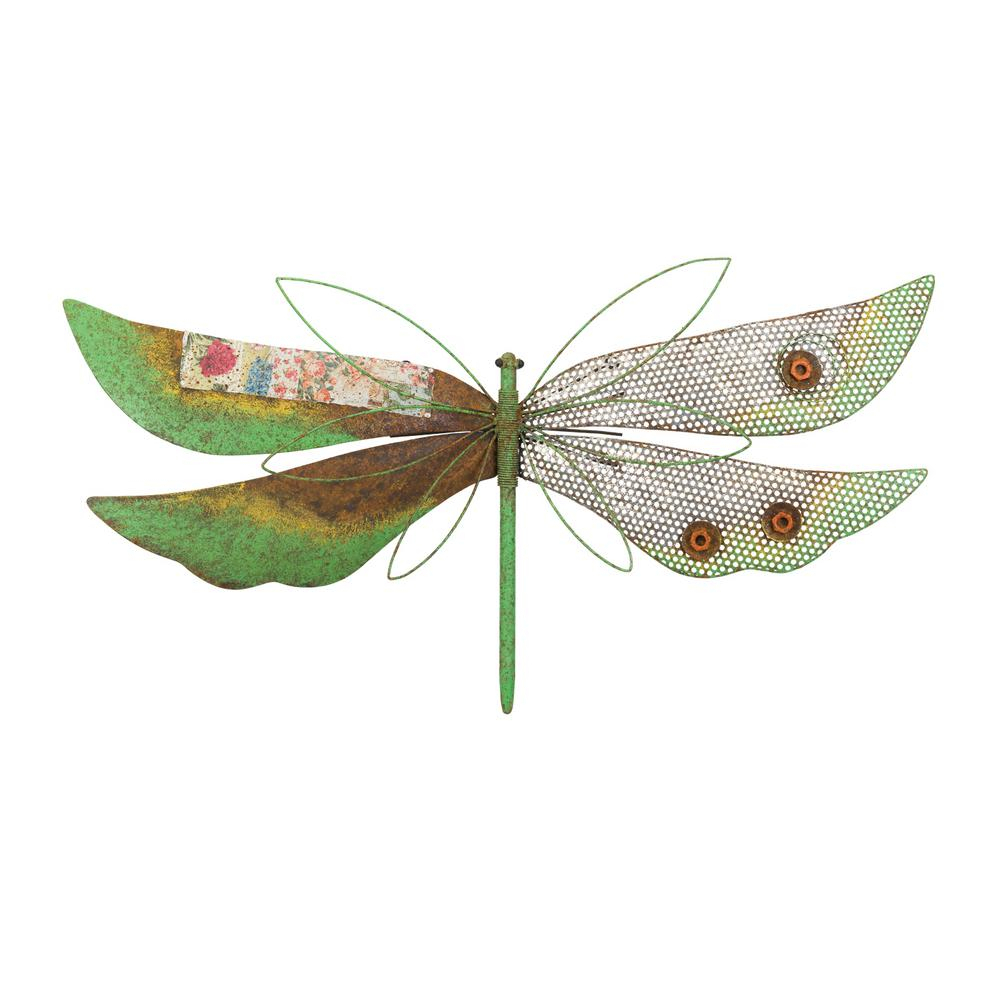 Favorite Dragonfly Wall Decor Regarding Regal Rustic Wall Decor – Dragonfly Green 12218 – The Home Depot (View 14 of 20)