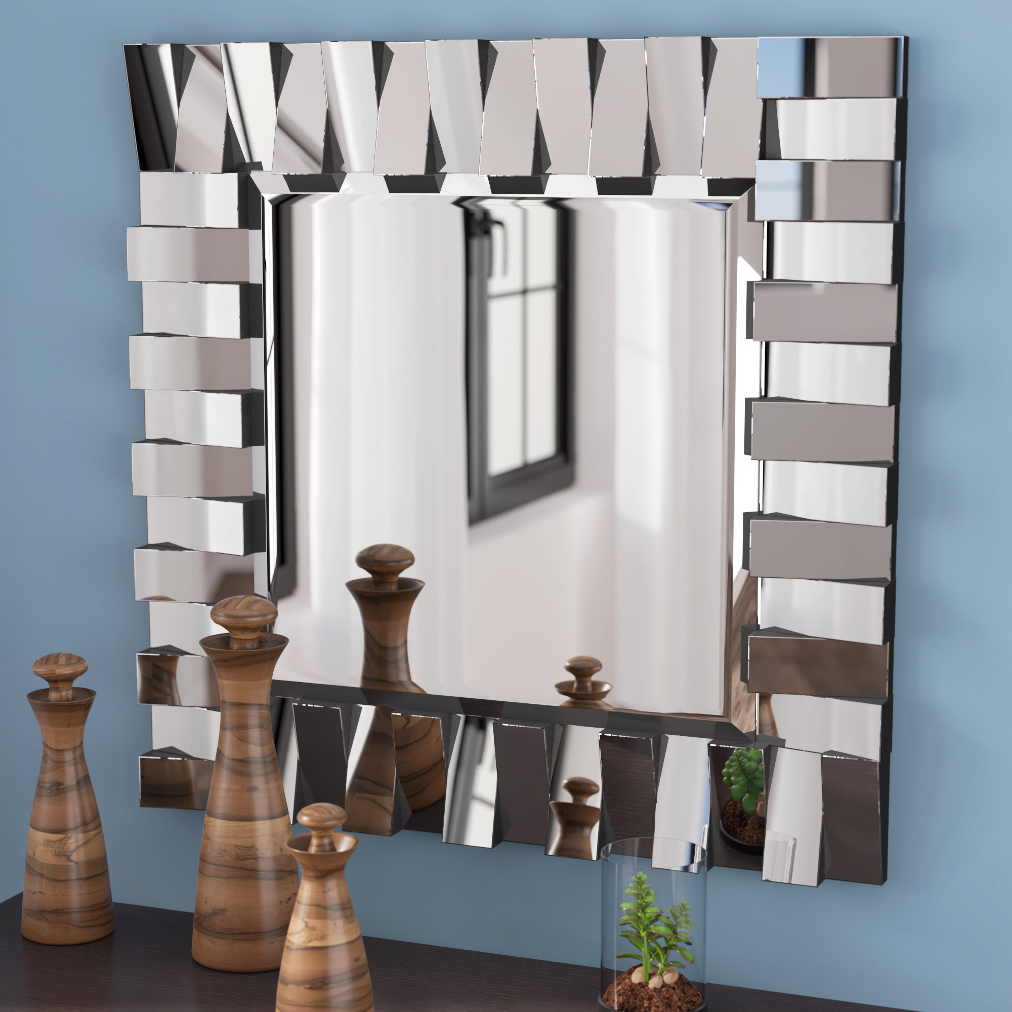 Favorite Latitude Run Modern & Contemporary Beveled Wall Mirror & Reviews Inside Pennsburg Rectangle Wall Mirror By Wade Logan (View 6 of 20)