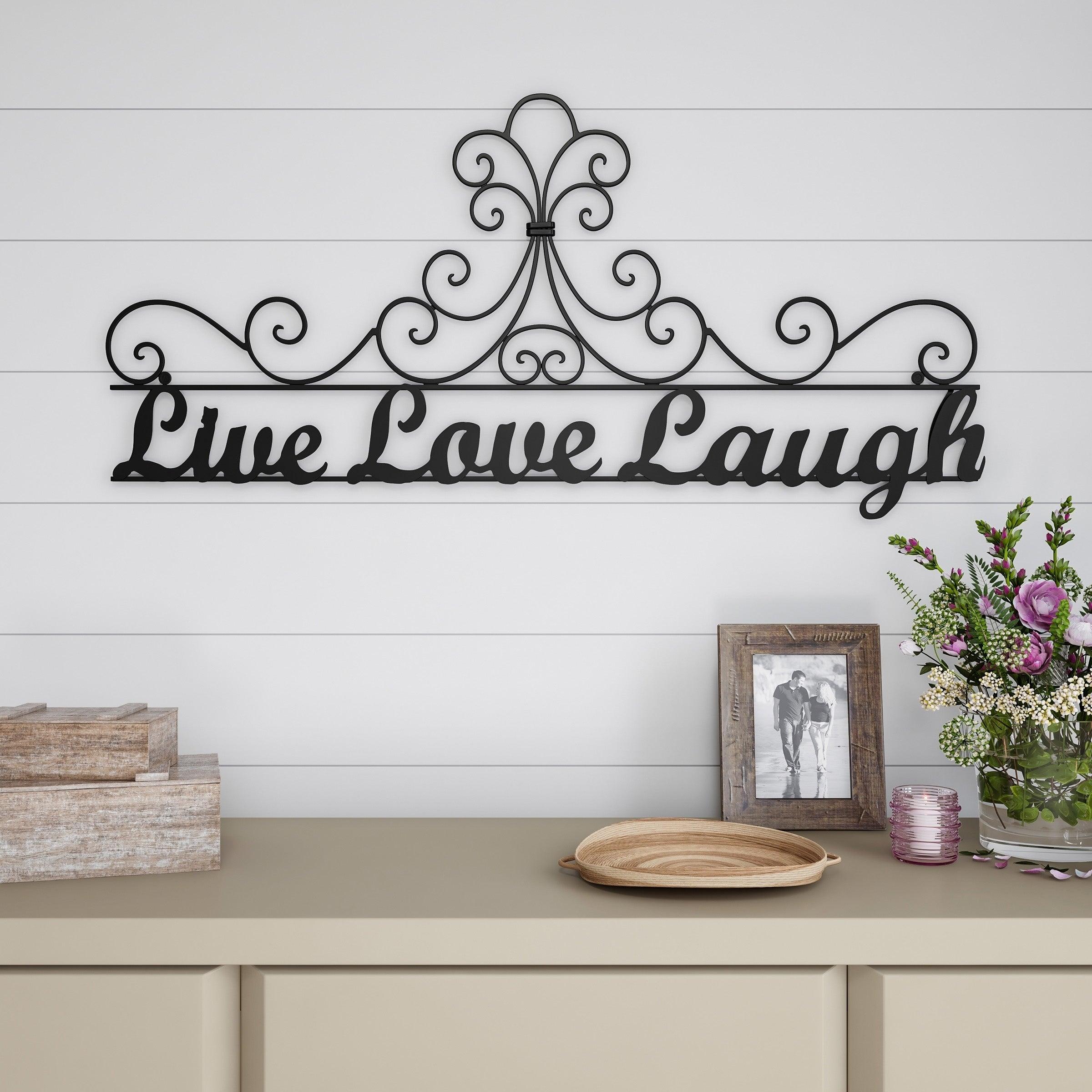 Favorite Live, Laugh, Love Antique Copper Wall Decor Regarding Metal Cutout Live Laugh Love Decorative Wall Sign 3D Word Art Lavish Home (View 12 of 20)
