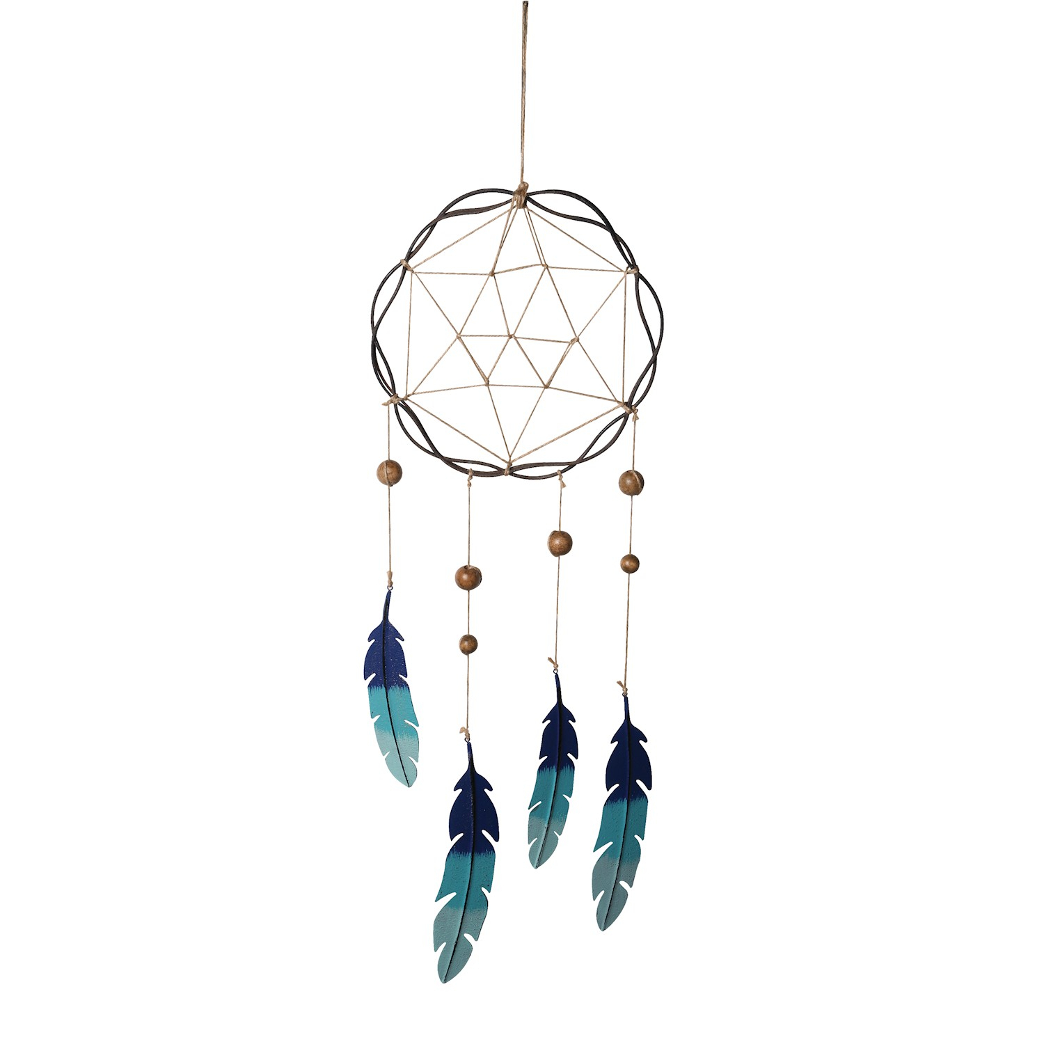 Favorite Metal Universal Wall Decor Inside Universal Direct Brands: Giftcraft Dreamcatcher With Blue Metal (View 11 of 20)