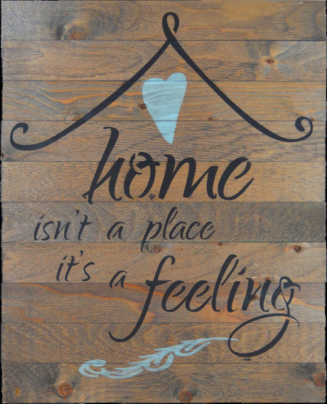 "Firesidehome In-A-Word ""home Isn't A Place, It's A Feeling"" Wall throughout Newest In-A-Word ""welcome"" Wall Decor By Fireside Home"