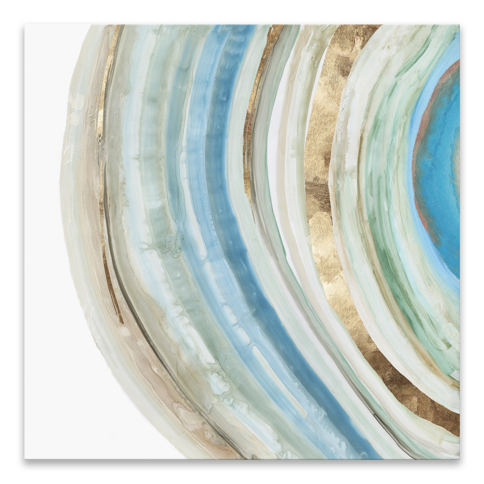Gallery Direct Marbled Ring Ii Hand Embellished Canvas Wall Art In Inside Current Rings Wall Decor By Wrought Studio (View 6 of 20)