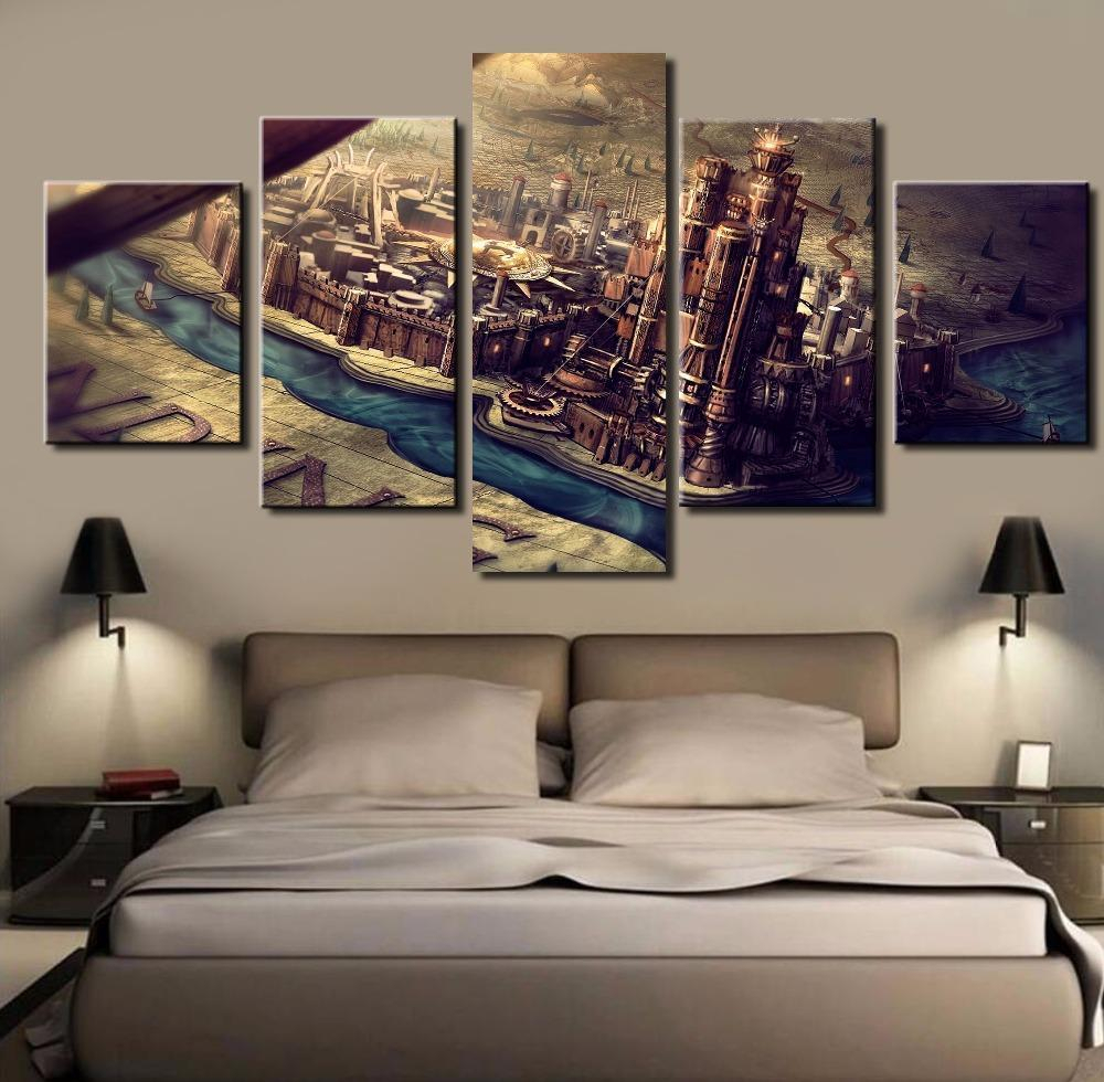 Game Of Thrones Westeros Map Kings Landing – Movie 5 Panel Canvas Intended For Famous Landing Art Wall Decor (View 7 of 20)