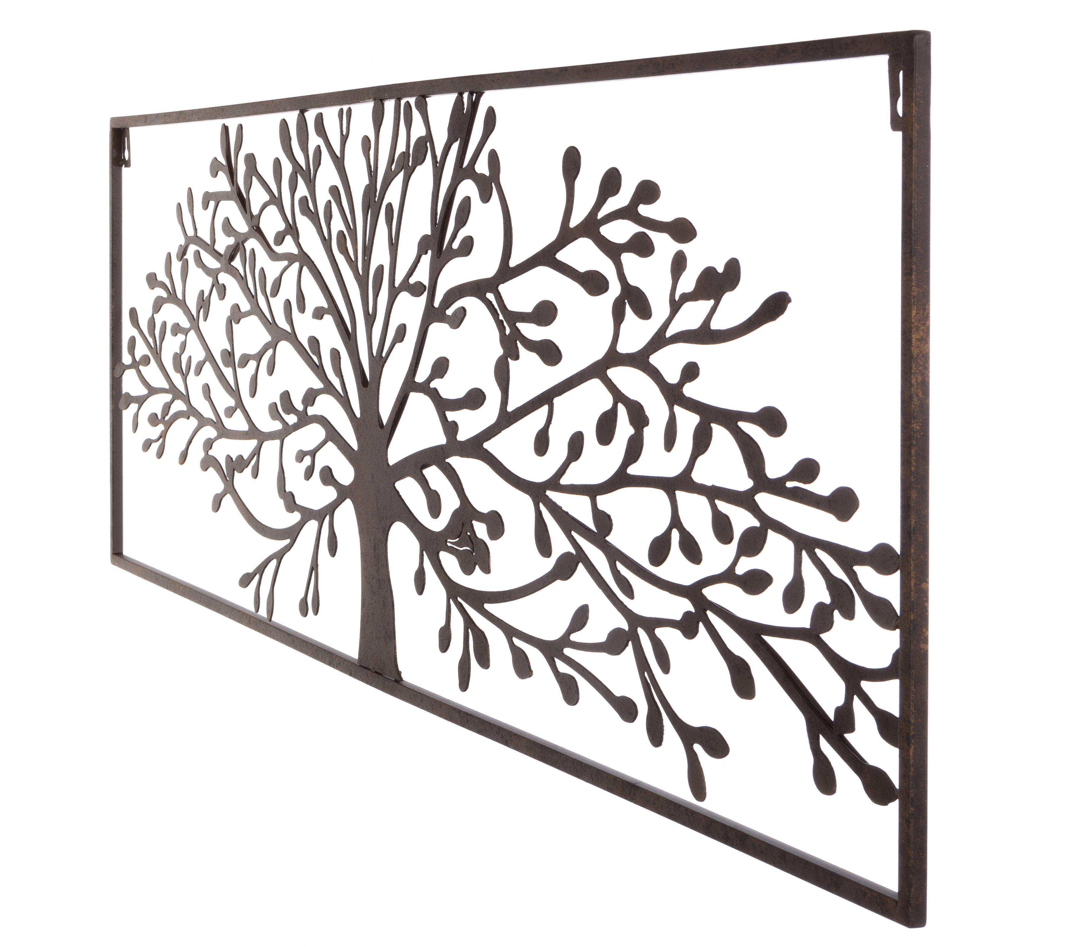 Gracie Oaks Plasma Cut Oak Tree Wall Decor (Gallery 3 of 20)