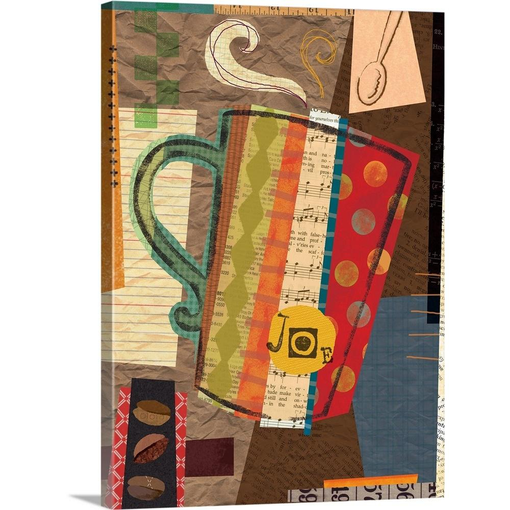 """Greatbigcanvas """"coffee House – Cup Of Joe""""holli Conger Canvas Regarding Best And Newest Cup Of Joe Wall Decor (Gallery 18 of 20)"""