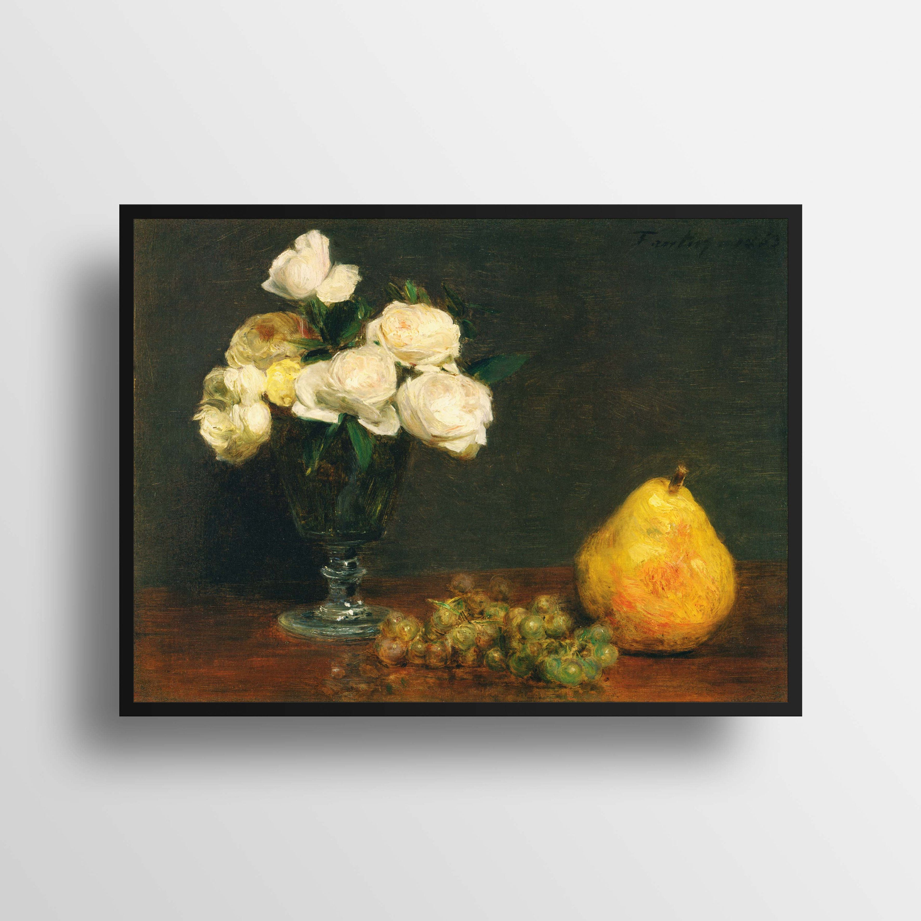Henri Fantin Latour Still Life With Roses And Fruit Fine (View 8 of 20)
